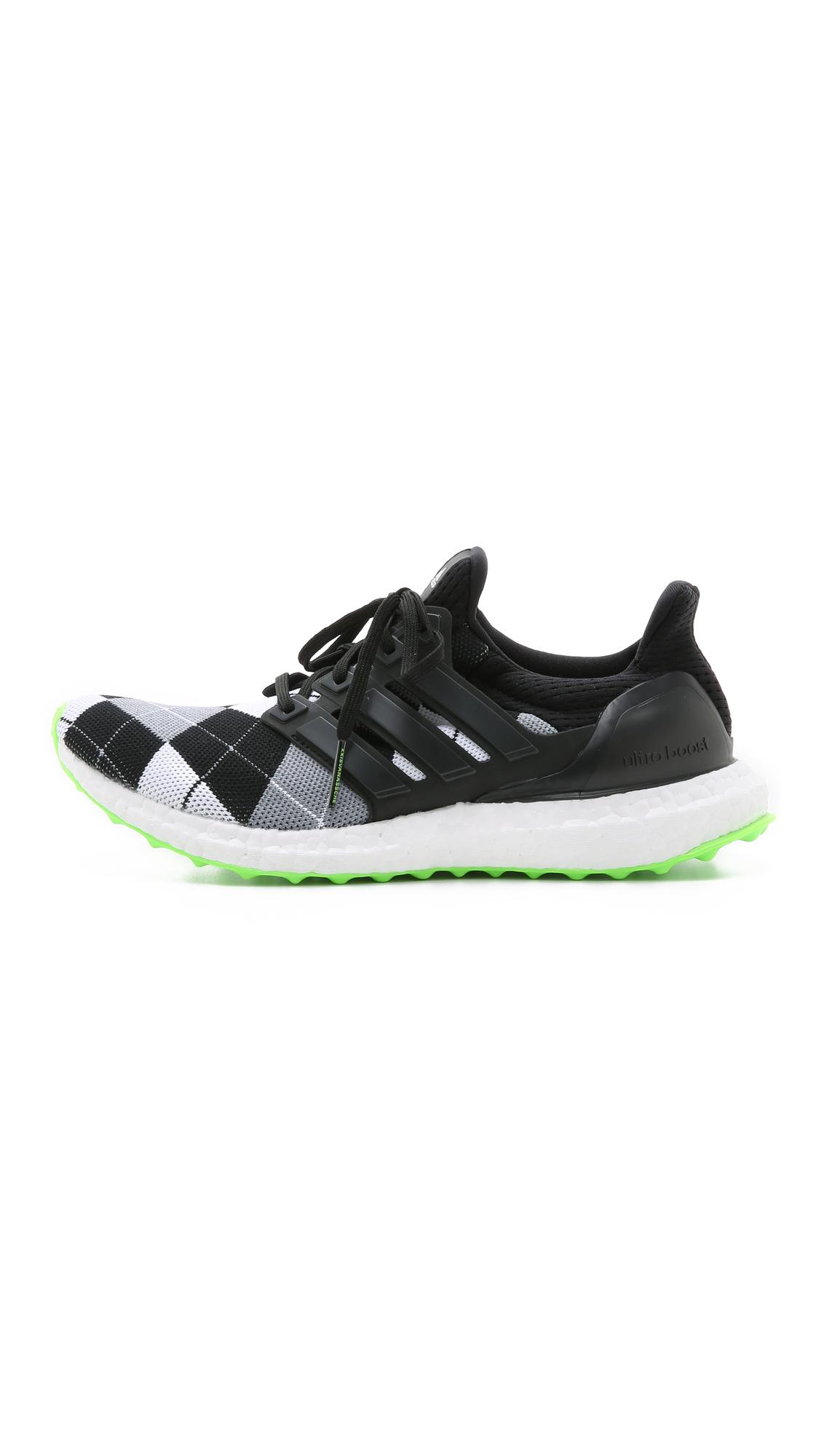 adidas Neoprene Ultra Boost Kva Sneakers - Core Black/grey/solar Green in White