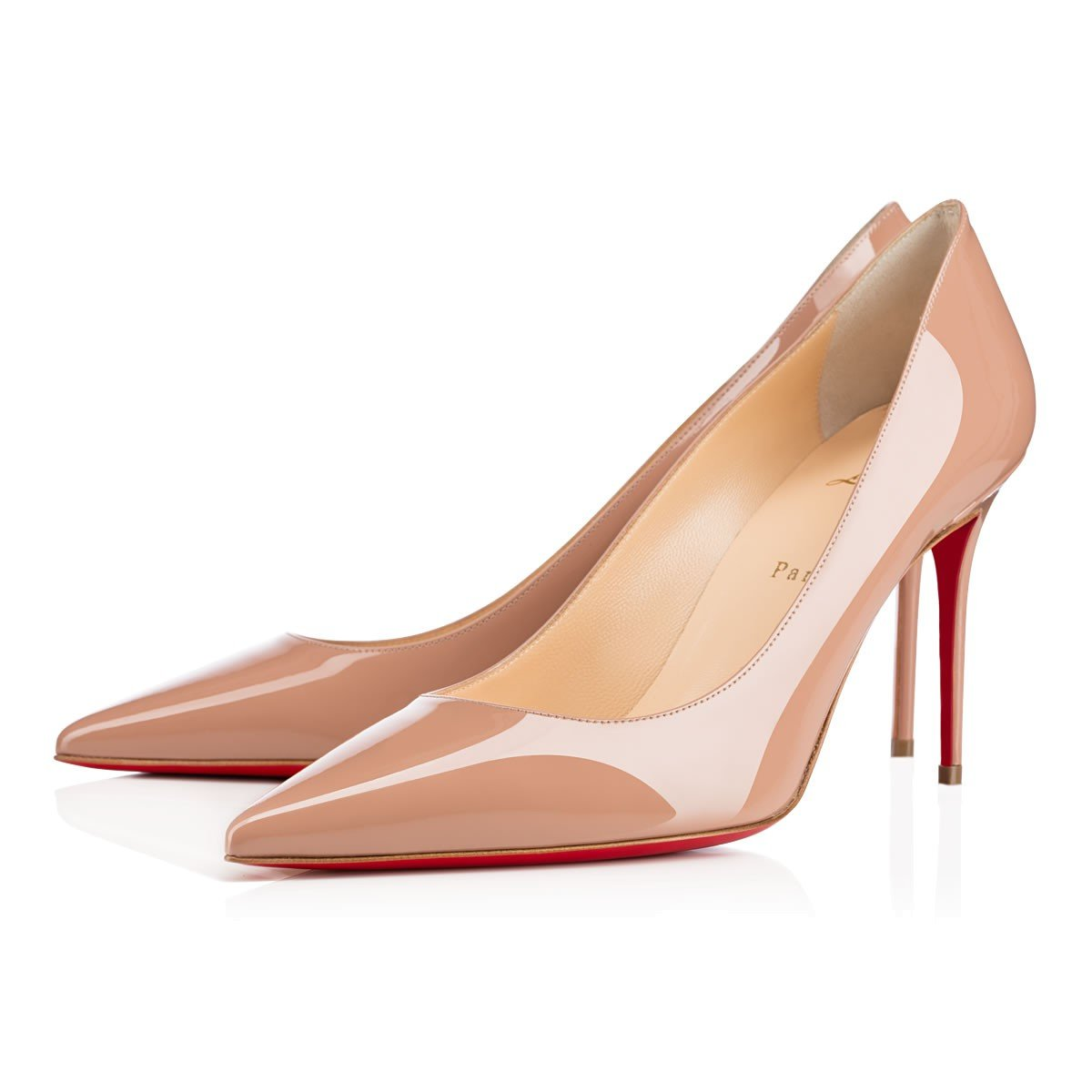 dc5345688f40 Lyst - Christian Louboutin Decollete 554 Patent in Pink