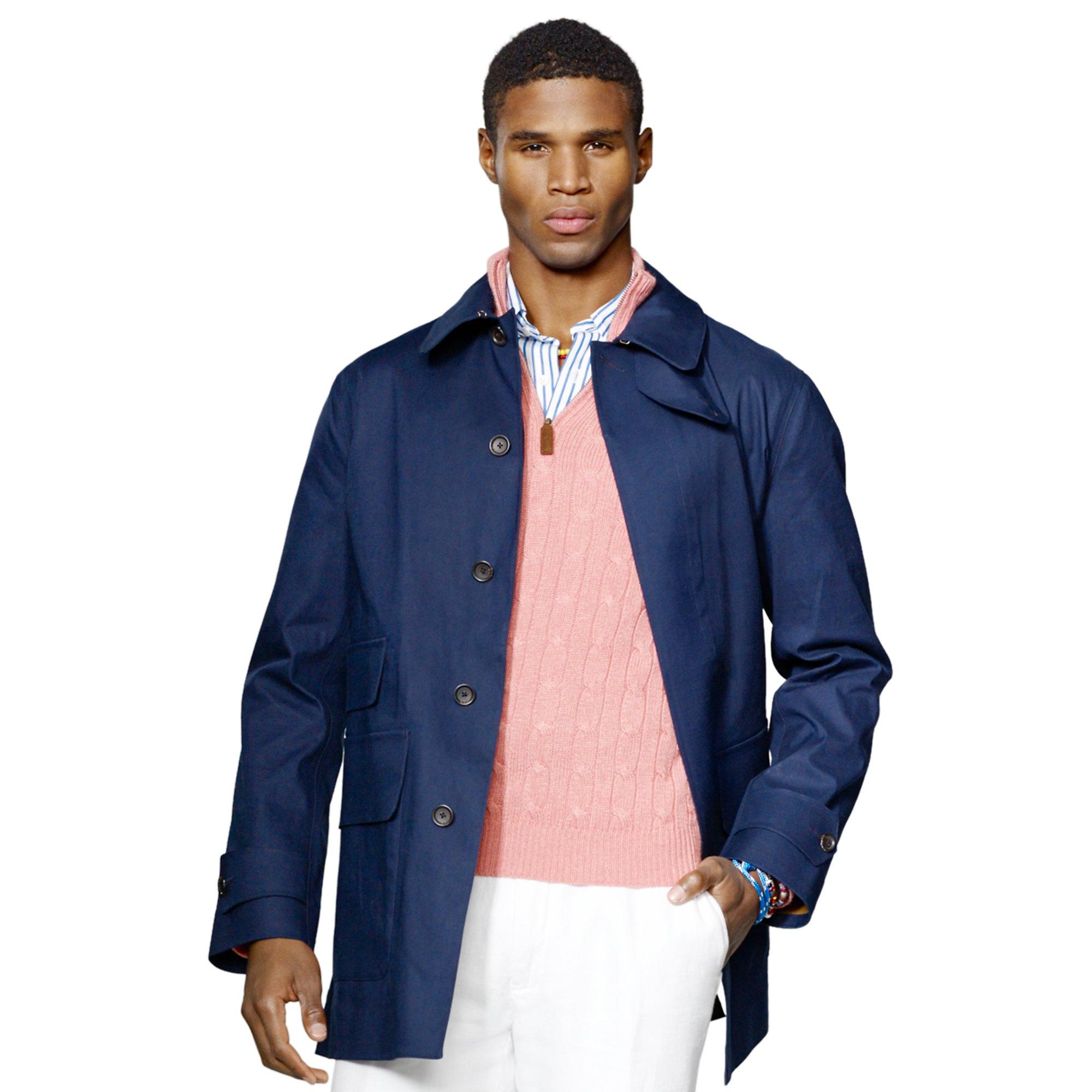 lyst polo ralph lauren brook walking coat in blue for men. Black Bedroom Furniture Sets. Home Design Ideas