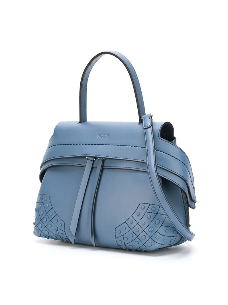 tod s wave tote bag in blue lyst
