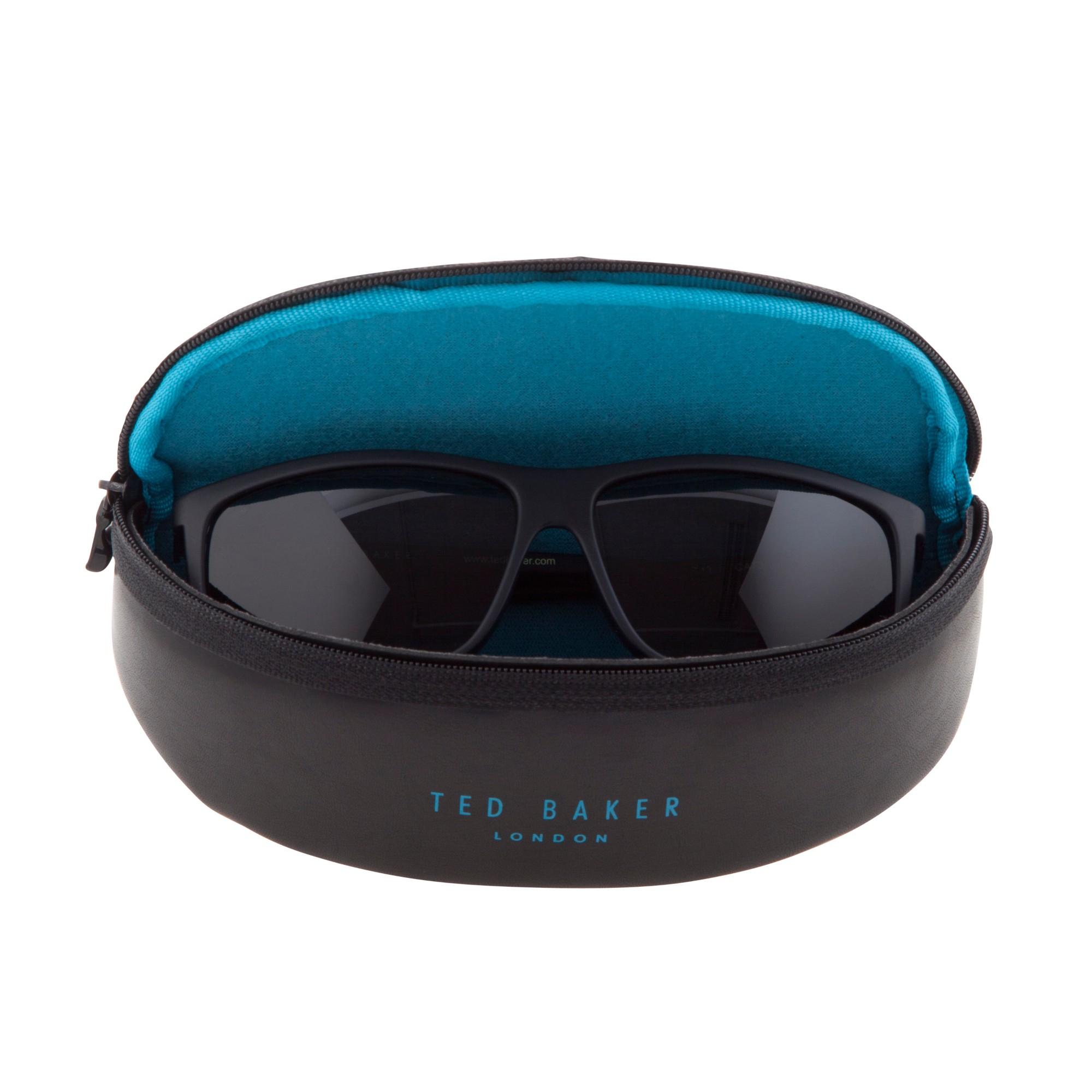 45bba87be Ted Baker Tb1301 Rectangular Framed Sunglasses in Blue - Lyst