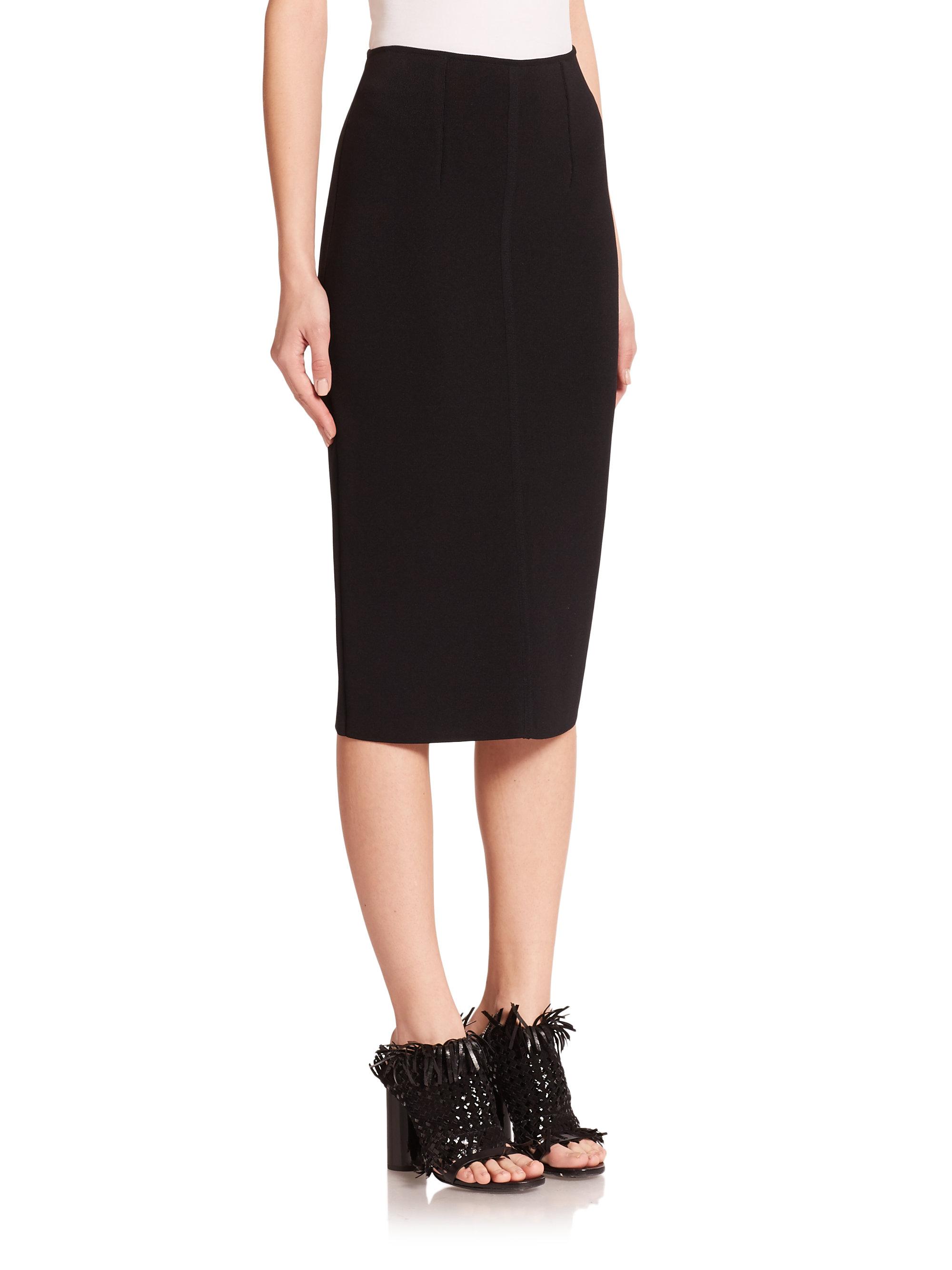 9685bc0b8 Proenza Schouler Knit Pencil Skirt in Black - Lyst