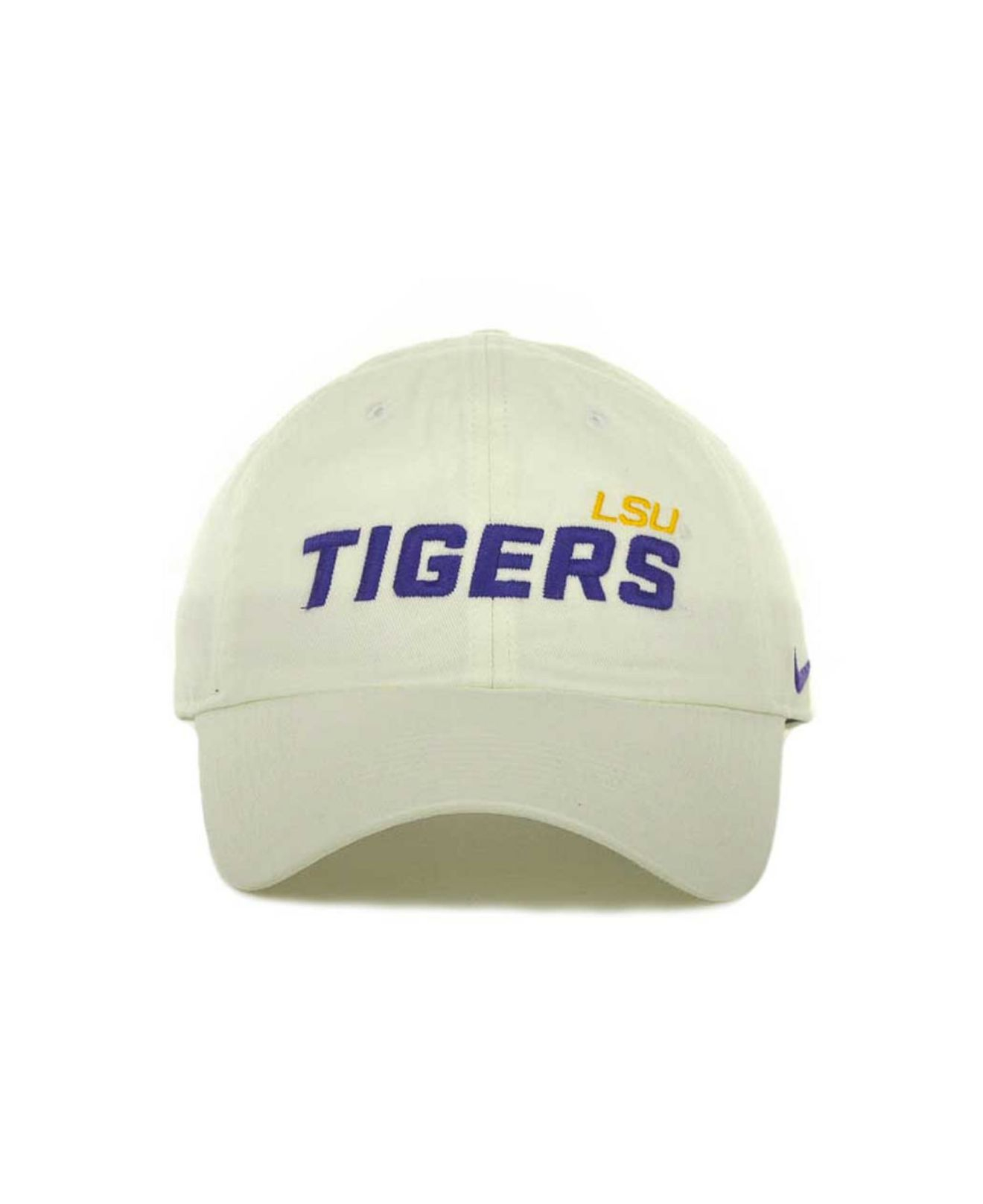 reputable site daaf1 5b280 ... sale lyst nike lsu tigers heritage 86 campus cap in white for men 46d8a  dd67b ...