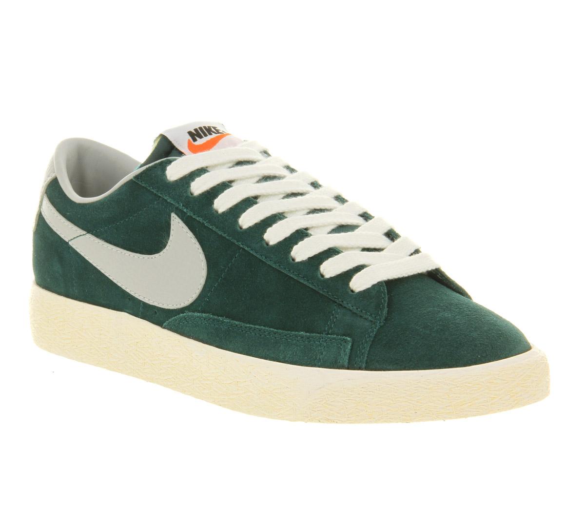 Nike Blazer Low Vintage Dark Atomic Strata Grey in Green for