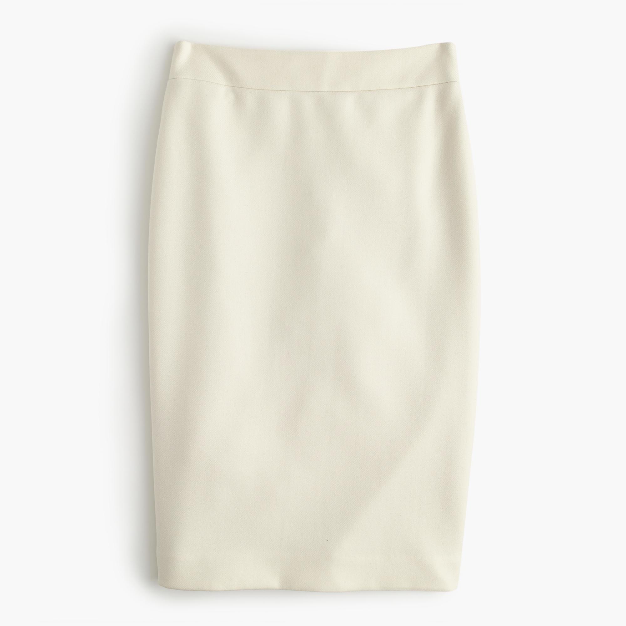 j crew white no 2 pencil skirt in serge wool lyst