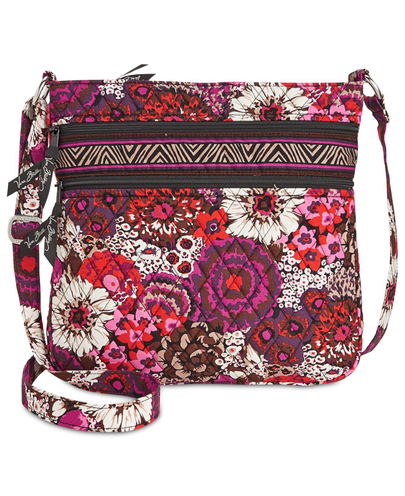 e573362925 Lyst - Vera Bradley Triple Zip Hipster in Purple