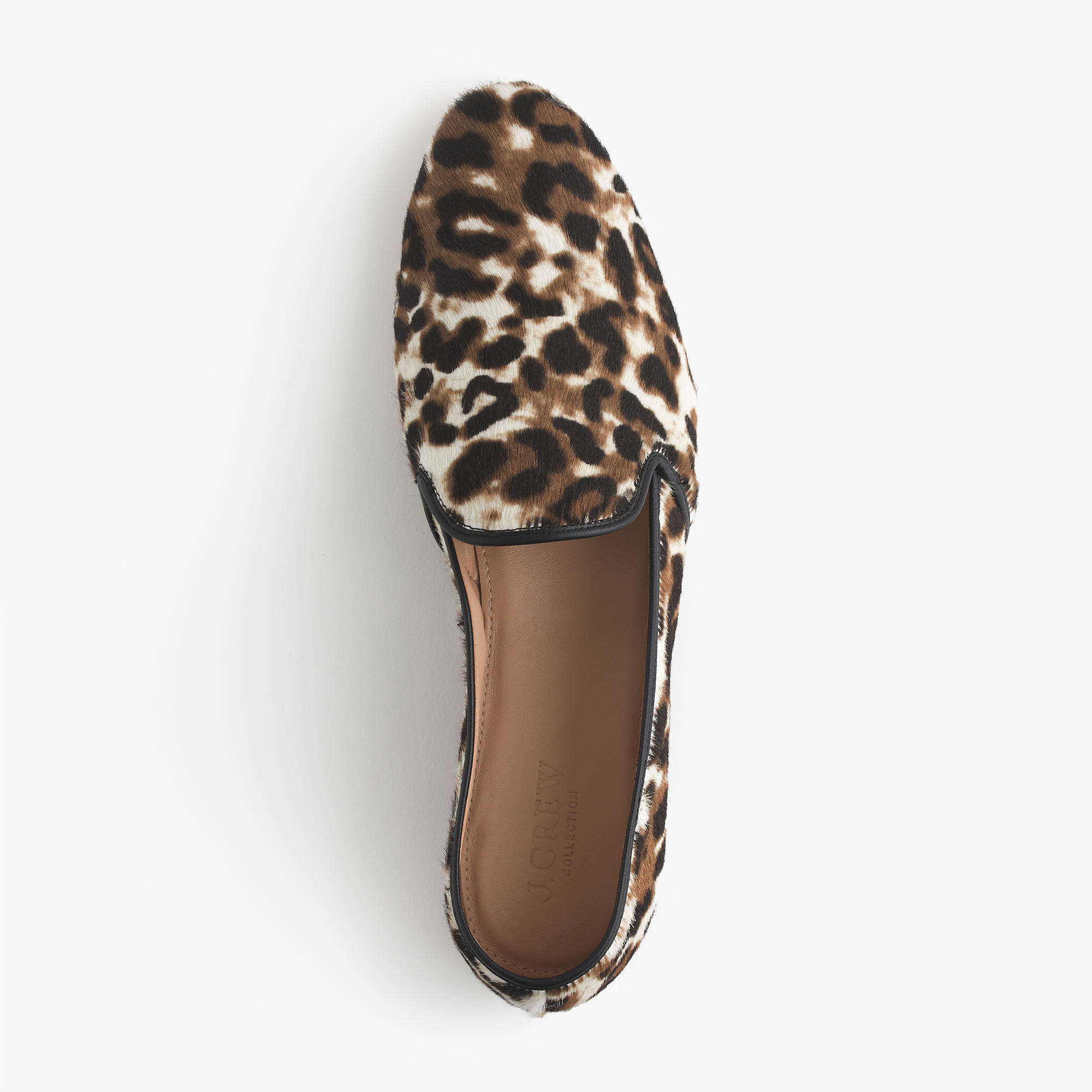 4124dc6369e Lyst - J.Crew Collection Calf Hair Loafers in Brown