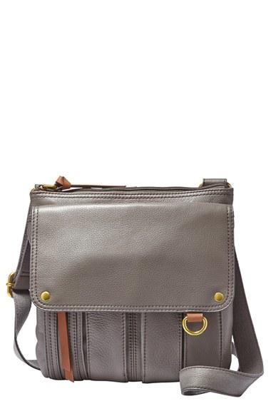 d609fa50224 Fossil 'Morgan Traveler' Crossbody Bag in Gray - Lyst