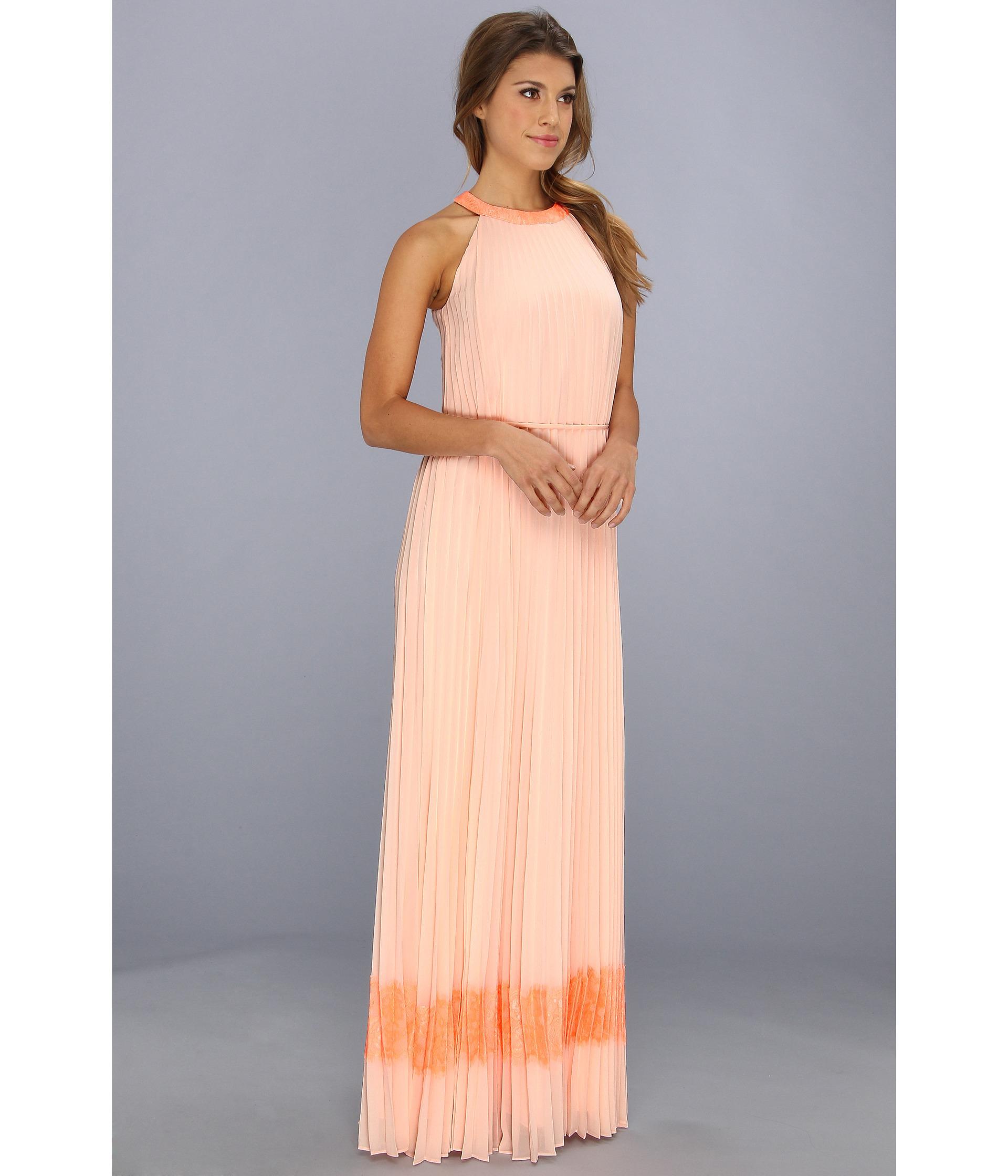 Lauren lace panel maxi dress