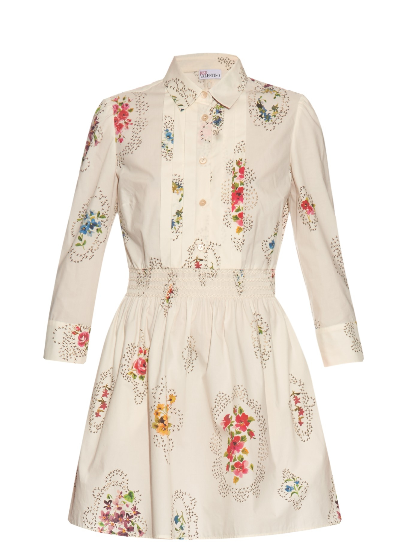 Botanico printed dress Red Valentino Outlet Sneakernews Fashionable Cheap Online Brand New Unisex Online Classic For Sale ibLiqqe