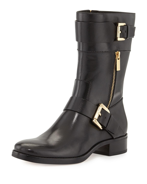 michael kors gansevoort flat boot in black