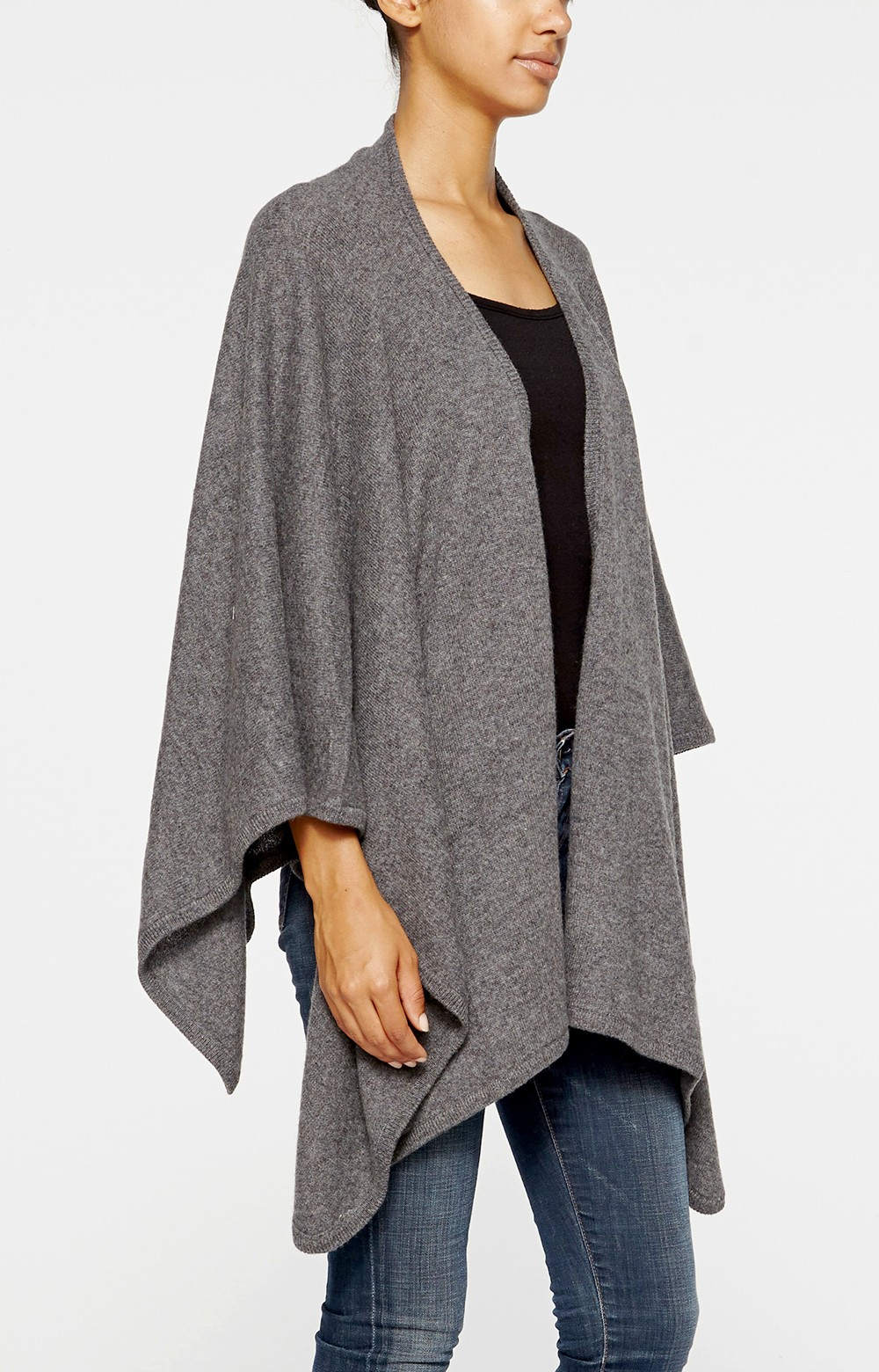 Nicole miller Cashmere Wrap in Gray   Lyst