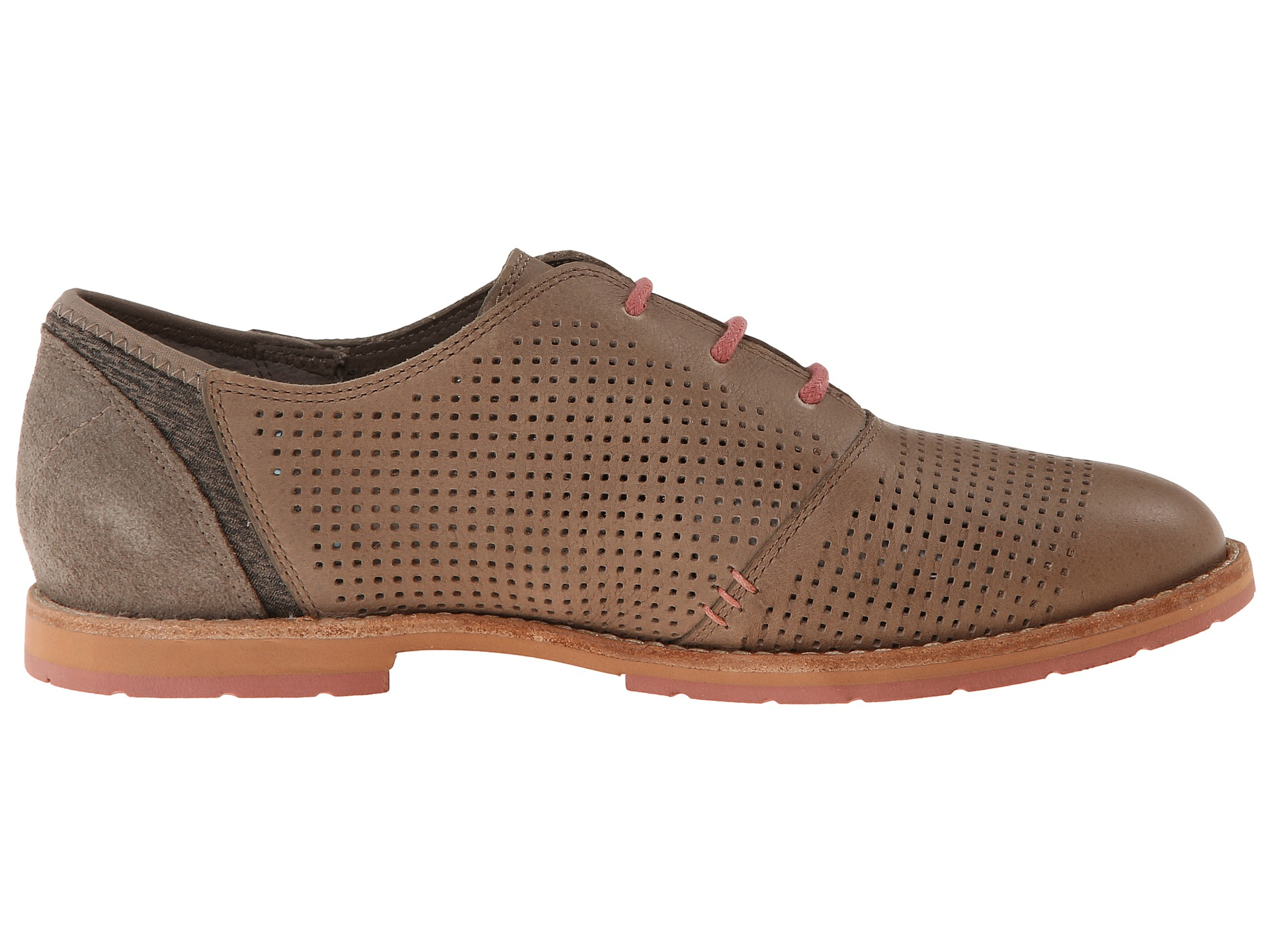 Ahnu Emeryville Womens Lace Ups Timber Wolf