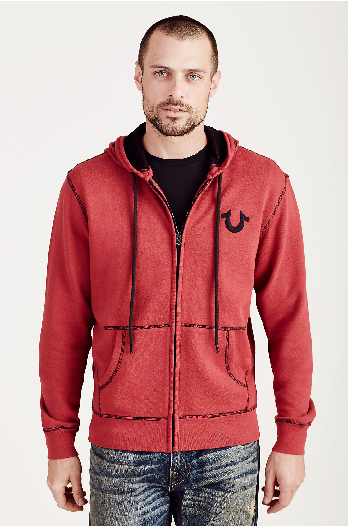 Lyst - True Religion Buddha Mens Hoodie in Red for Men