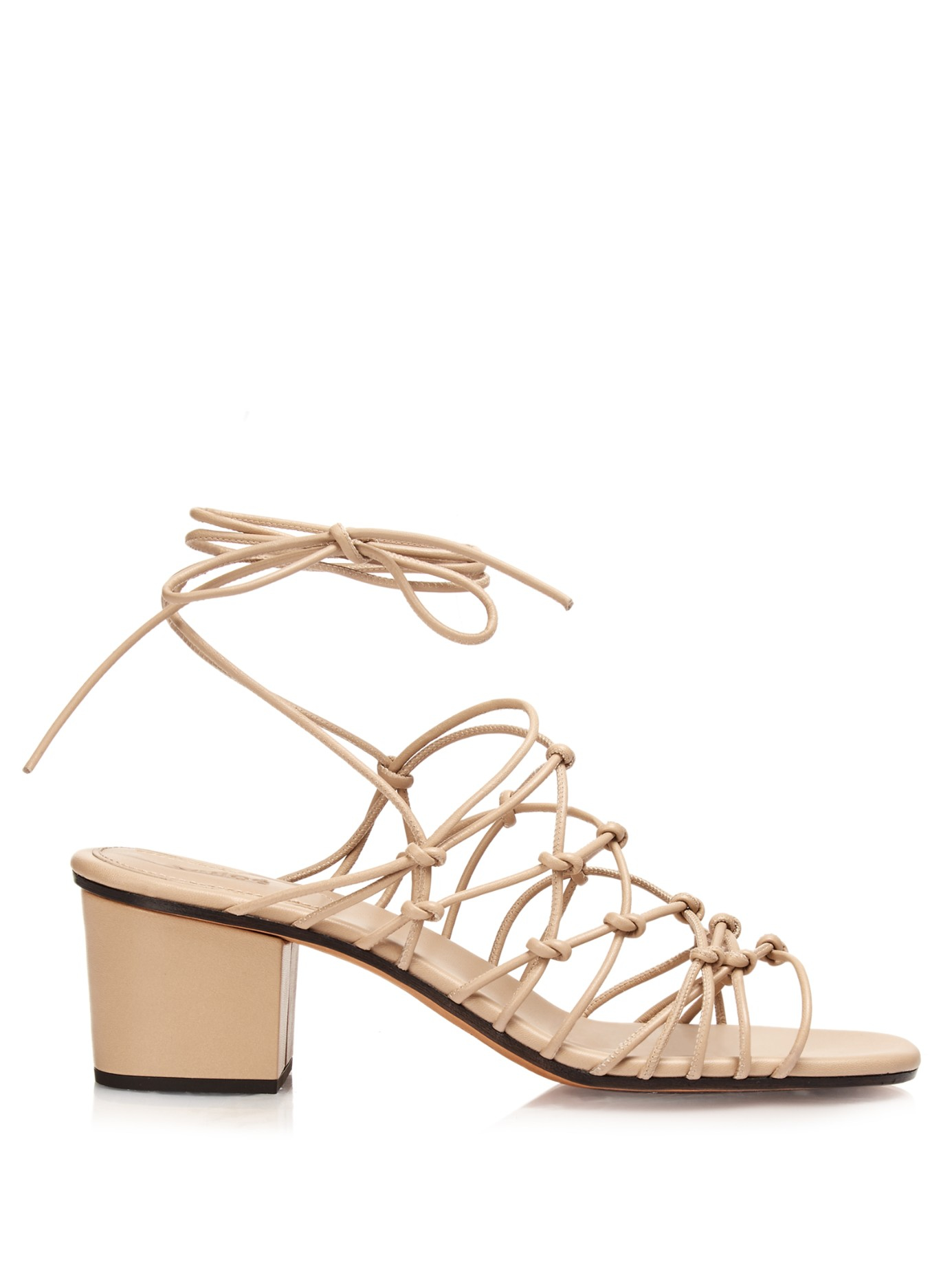 d285c0f5a29 Chloé Natural Multi-strap Block-heel Leather Sandals