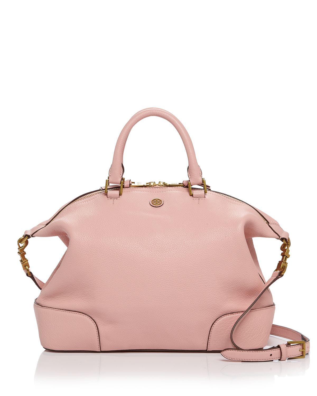 c1978407f48 Lyst - Tory Burch Satchel - Frances Slouchy in Pink