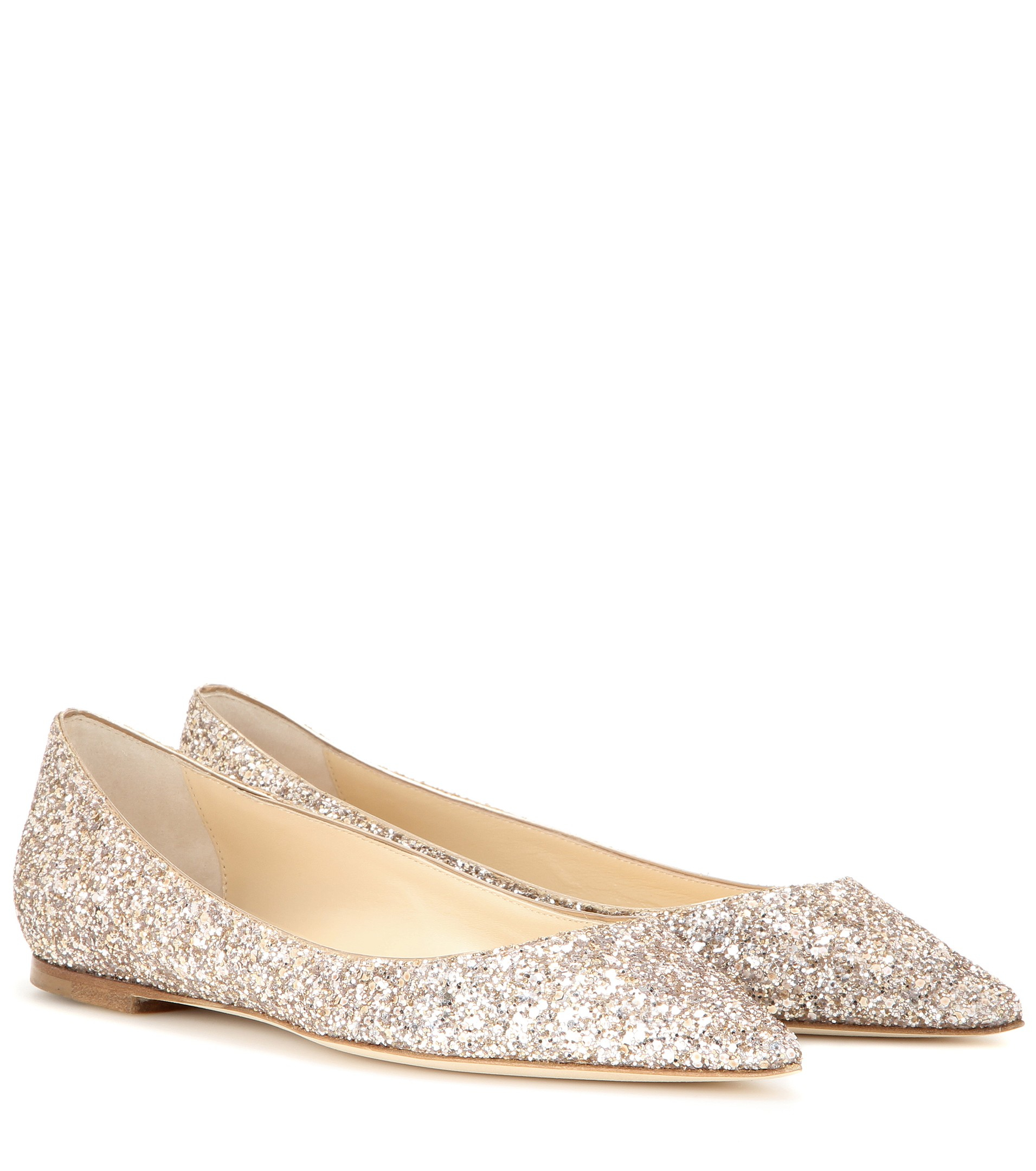 591400a2e81b ... france lyst jimmy choo alina glitter embellished flats in metallic  17caa 626f3