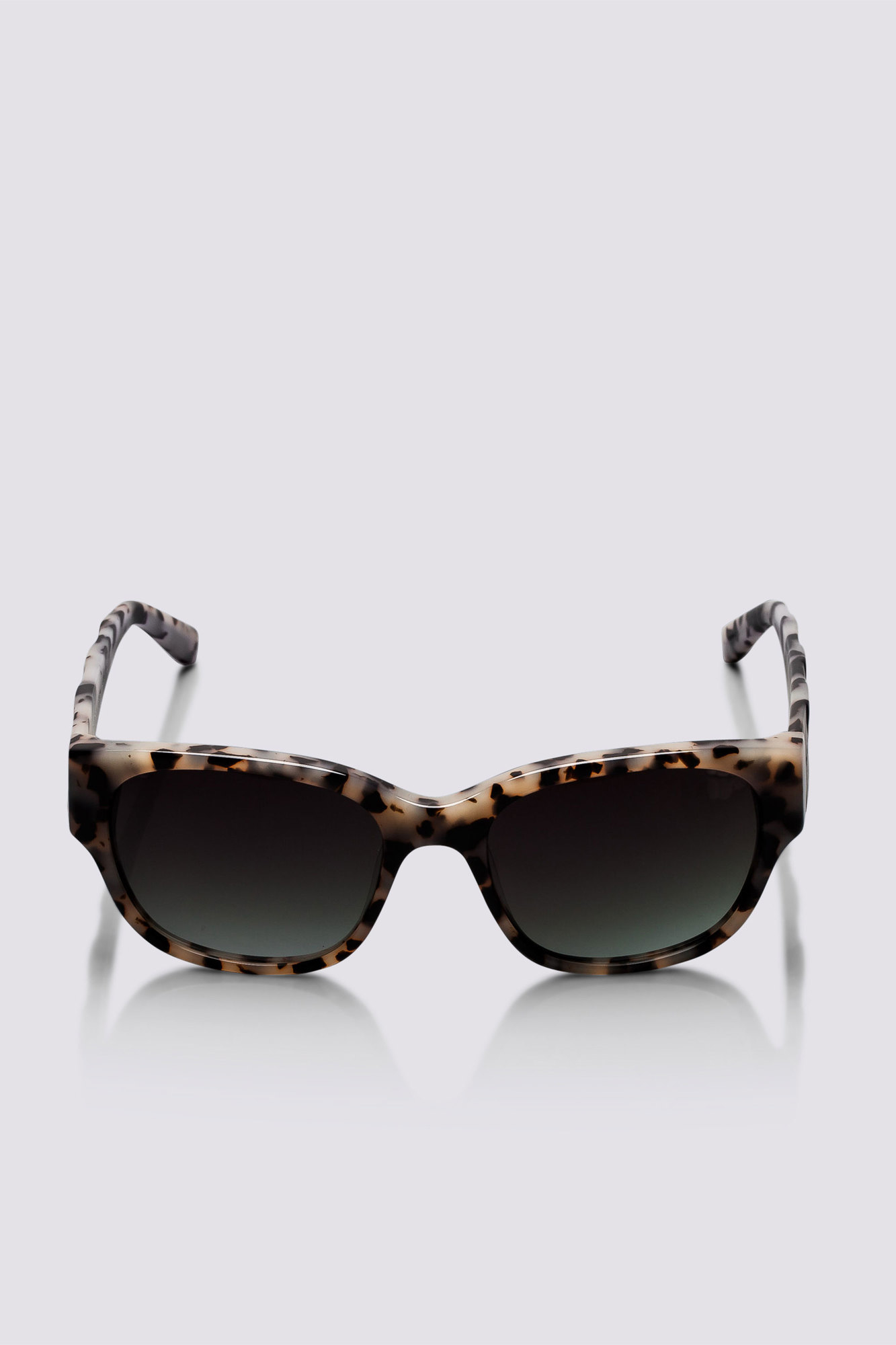 elie tahari emmeline sunglasses in gray grey tortoise lyst