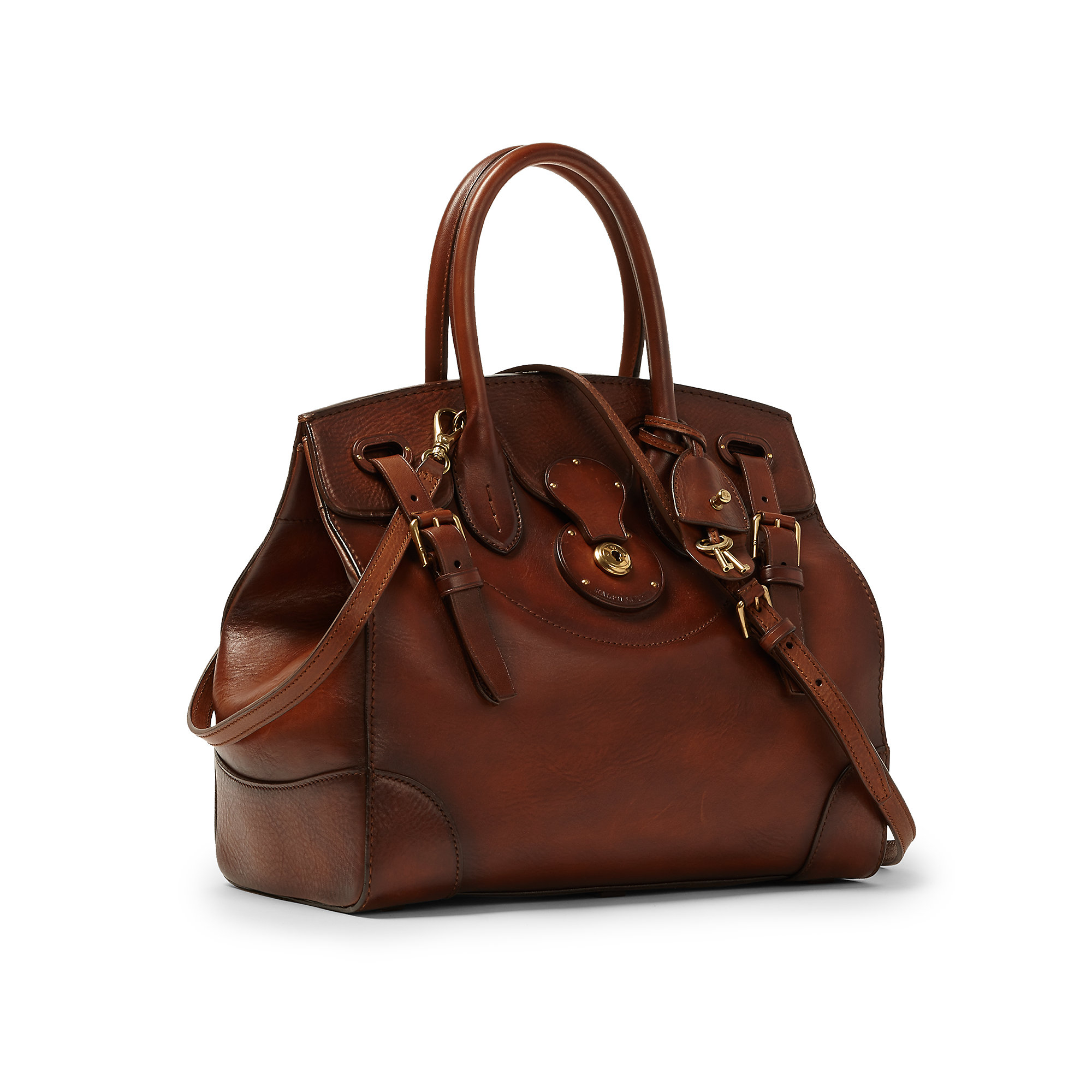 Ralph lauren Medium Soft Ricky Bag in Brown