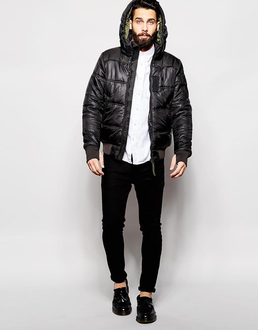 g star raw quilted hooded jacket whistler bomber myrow. Black Bedroom Furniture Sets. Home Design Ideas
