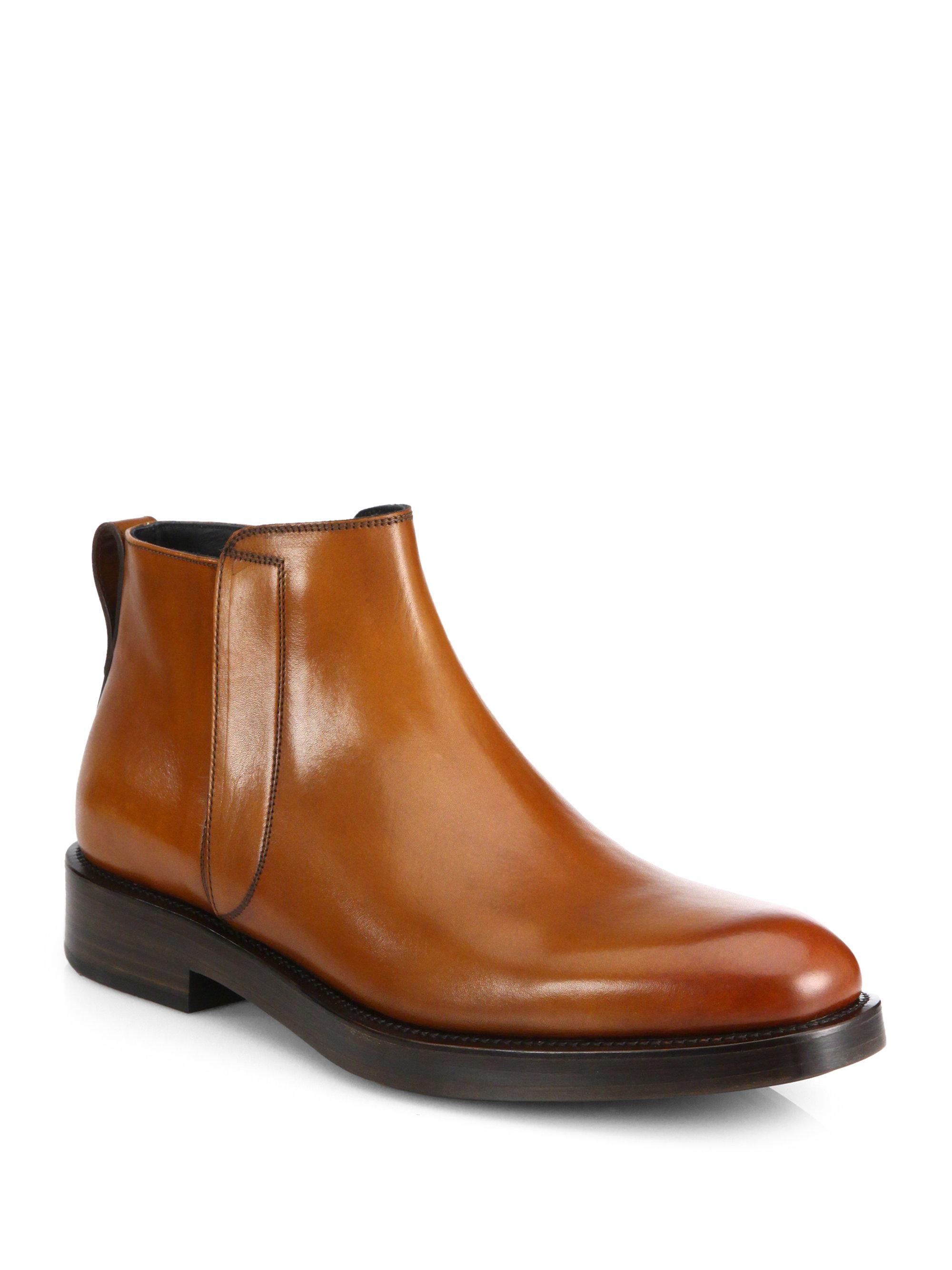 Ferragamo Poem Chelsea Boots In Brown For Men Lyst