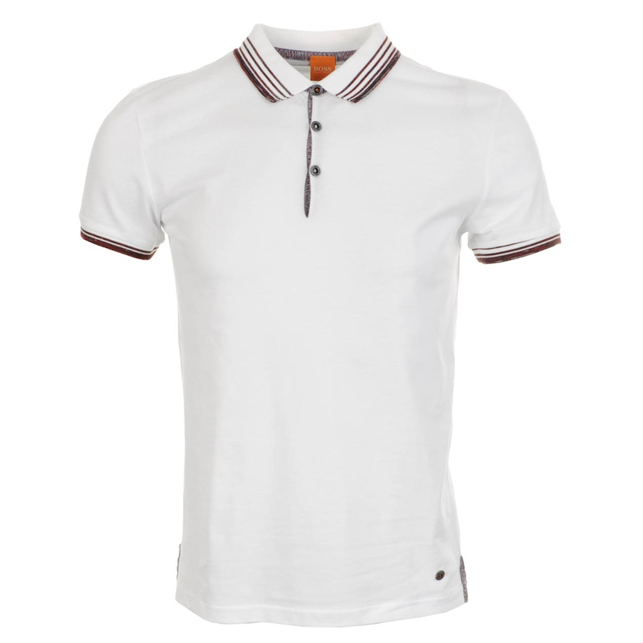 11c3643e6 HUGO BOSS Orange Pejo Polo T Shirt Black Outlet [Hugo-Boss .