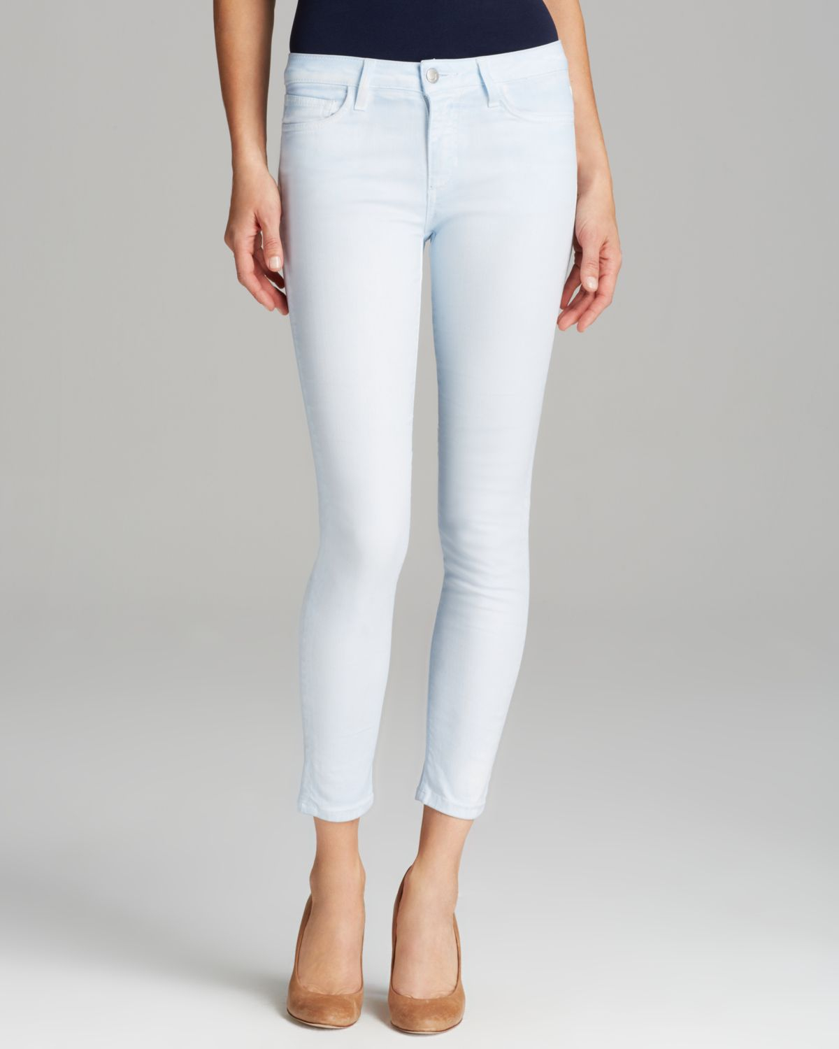 Lyst joe 39 s jeans the high water skinny in chambray in blue for Chambray jeans