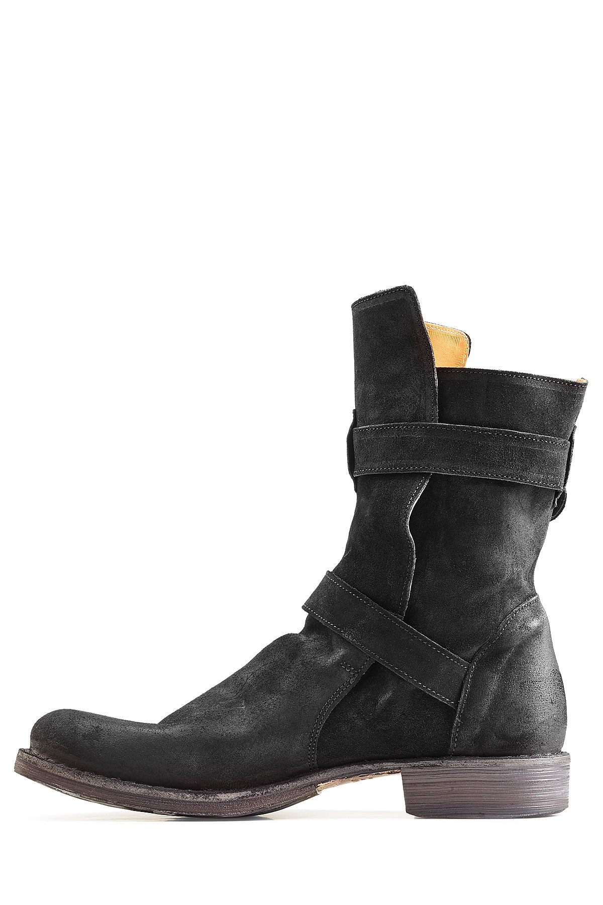 fiorentini baker suede boots black in black for lyst