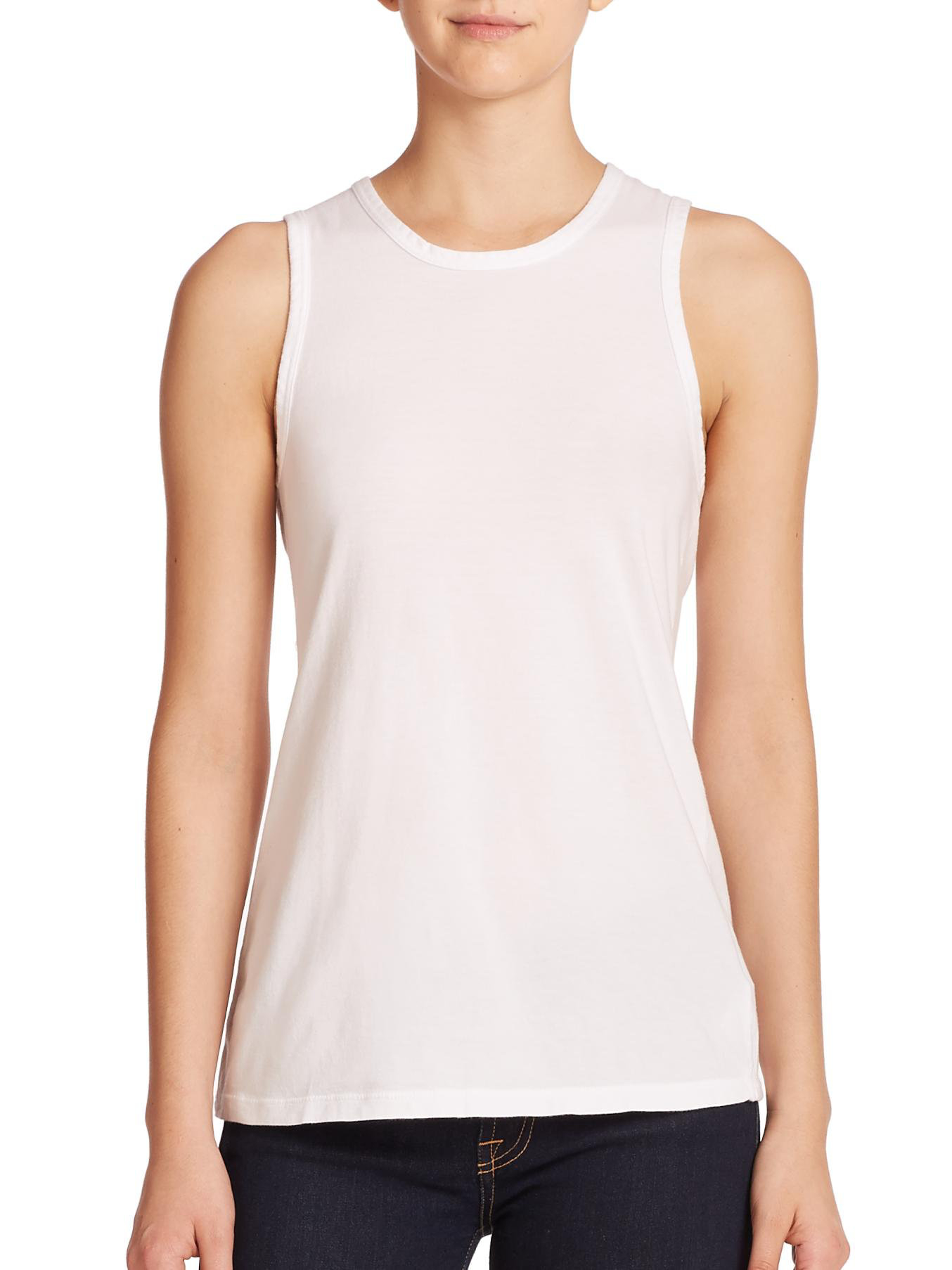 Lyst - James Perse Wrap-back Tank Top in White