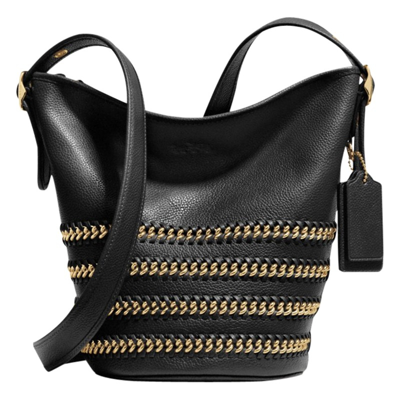 66080db8e5 ... clearance coach whiplash mini duffle leather bag in black lyst 41c5e  094a0