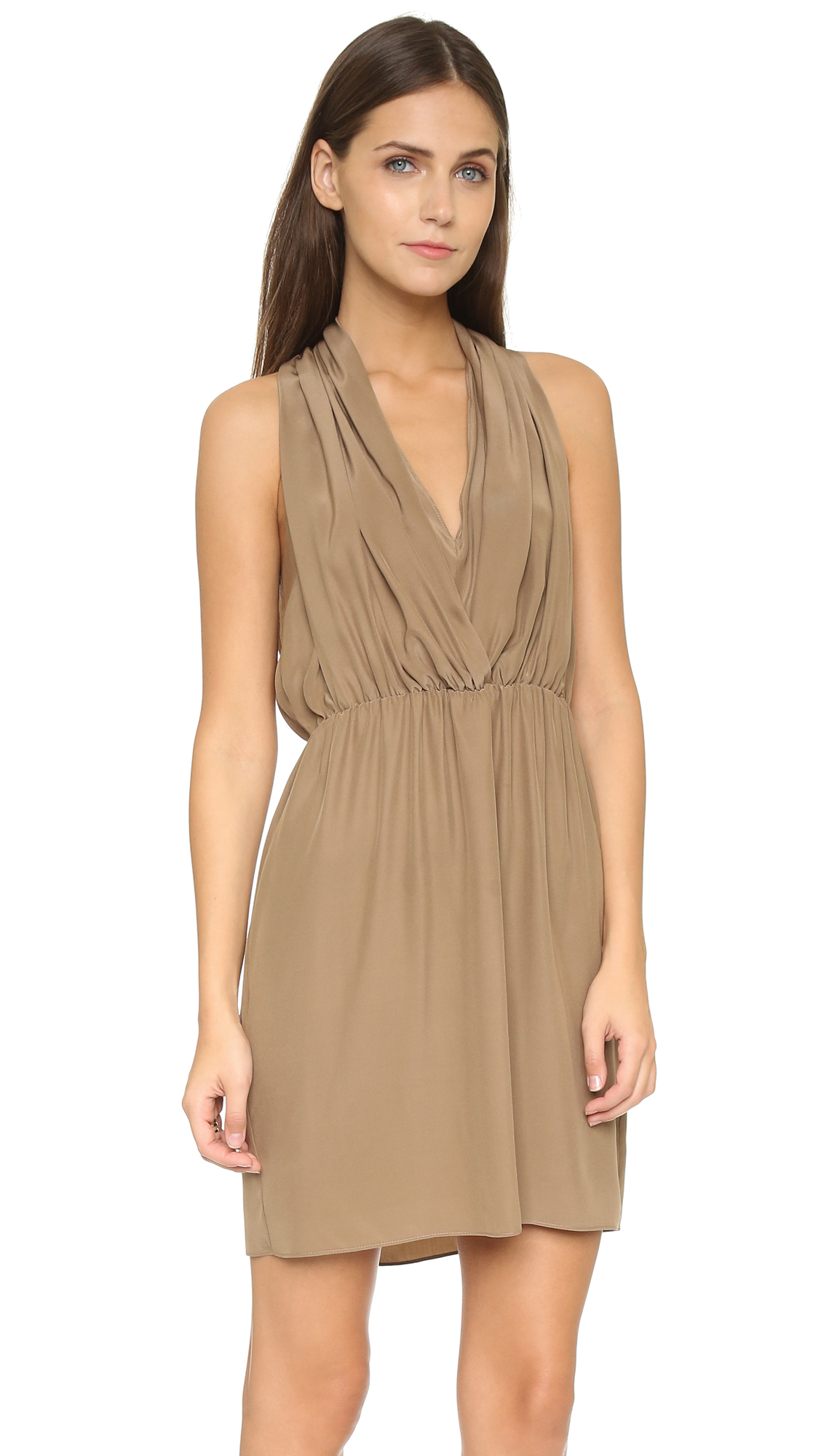 6d6fe337bb5 Lyst - Amanda Uprichard Ginger Dress - Taupe in Brown