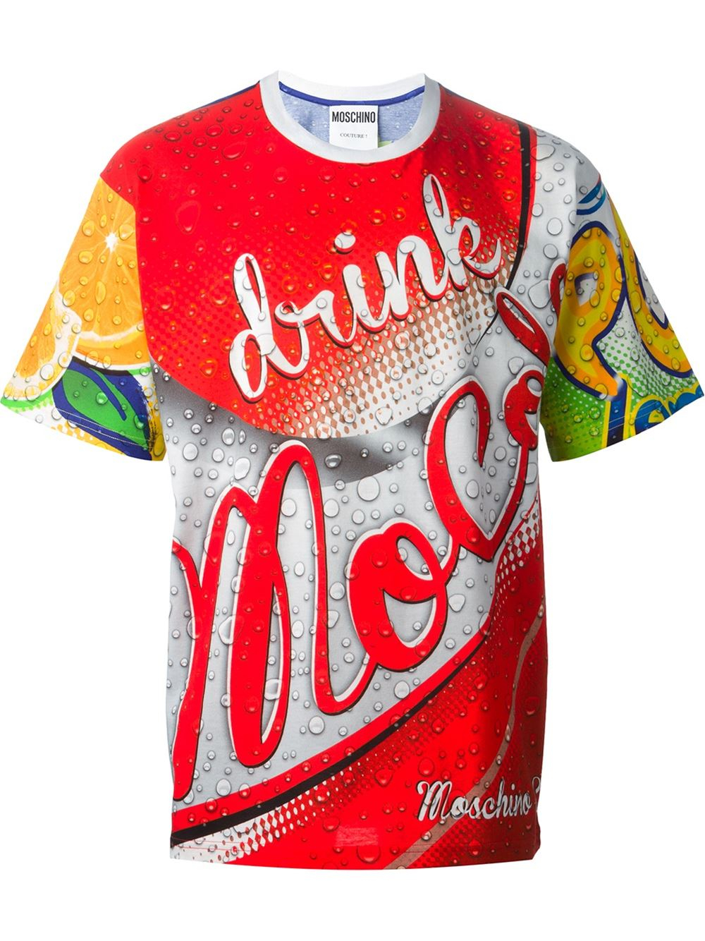 Moschino 'drink ' T-shirt in Blue for Men (multicolour) | Lyst