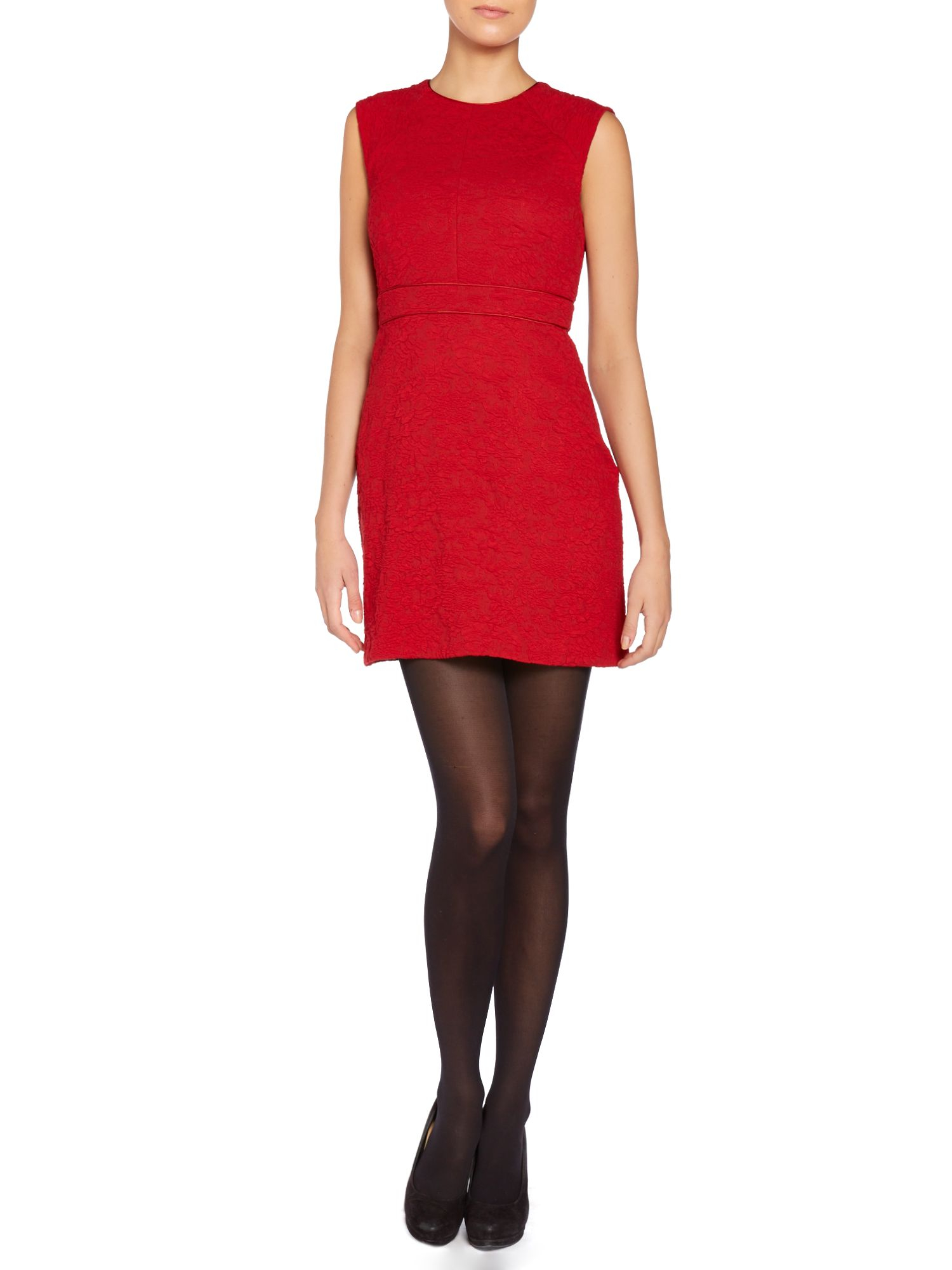 marella wool mix belted shift dress in lyst