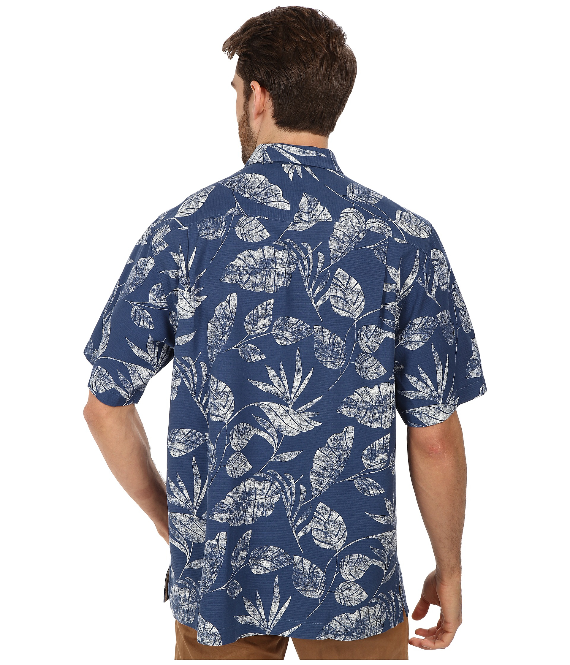 Tommy Bahama Baja Breeze Camp Shirt S S Button Up In Blue