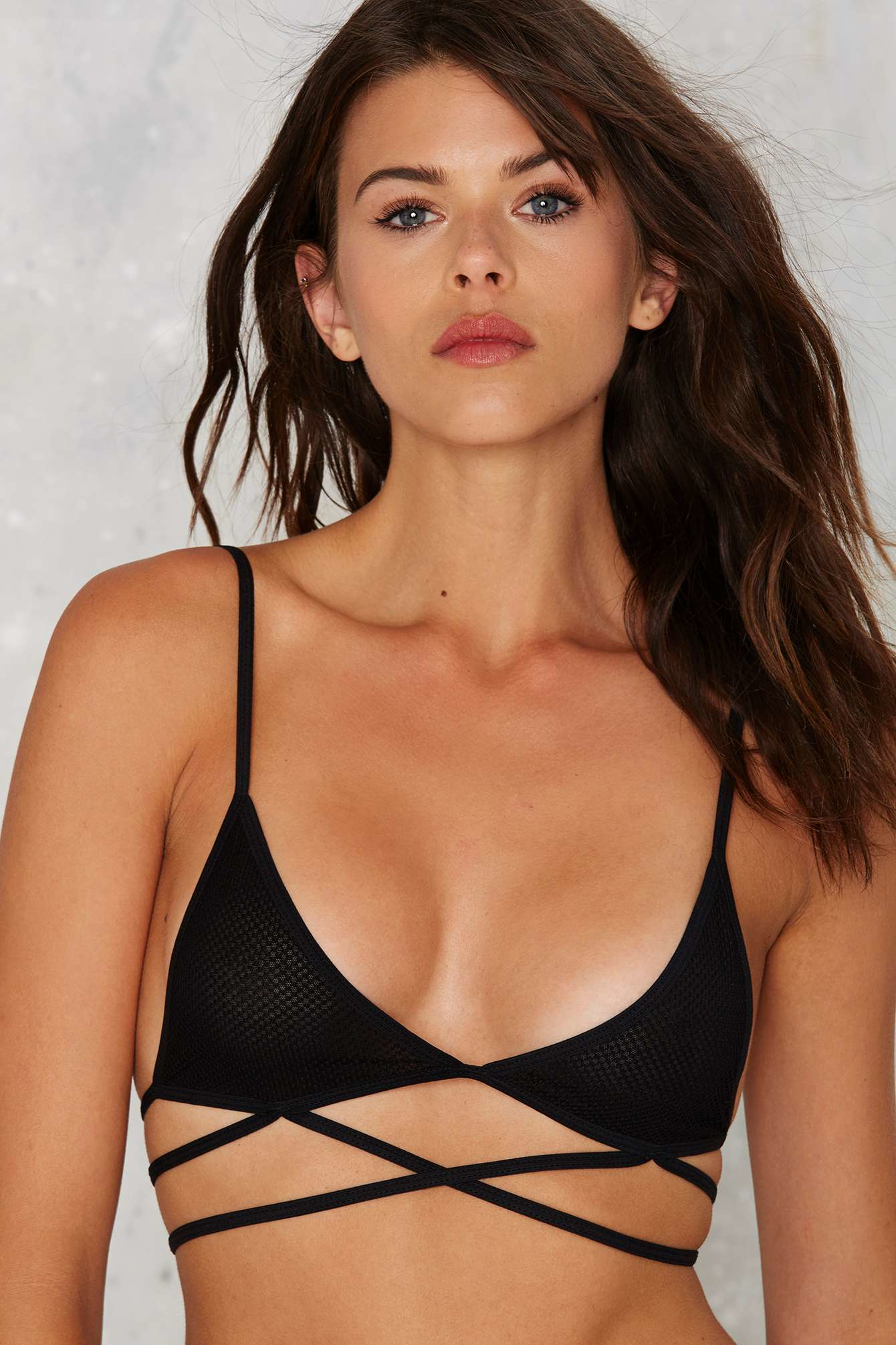 2d9827e4ae0d5 Lyst - Nasty Gal Nellie Strappy Bralette in Black