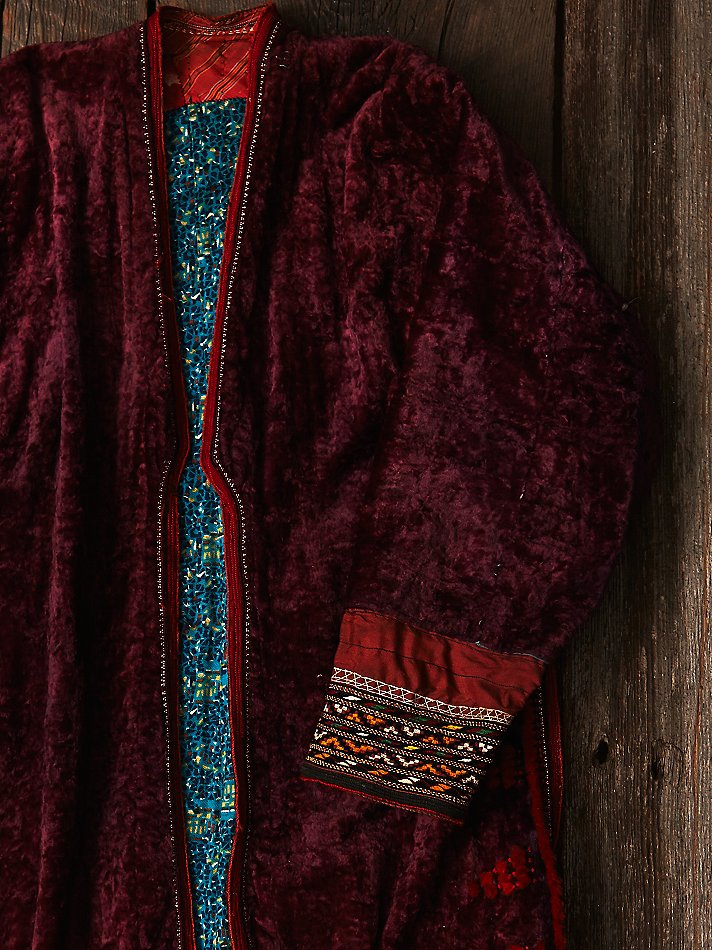 Lyst free people womens vintage embroidered velvet