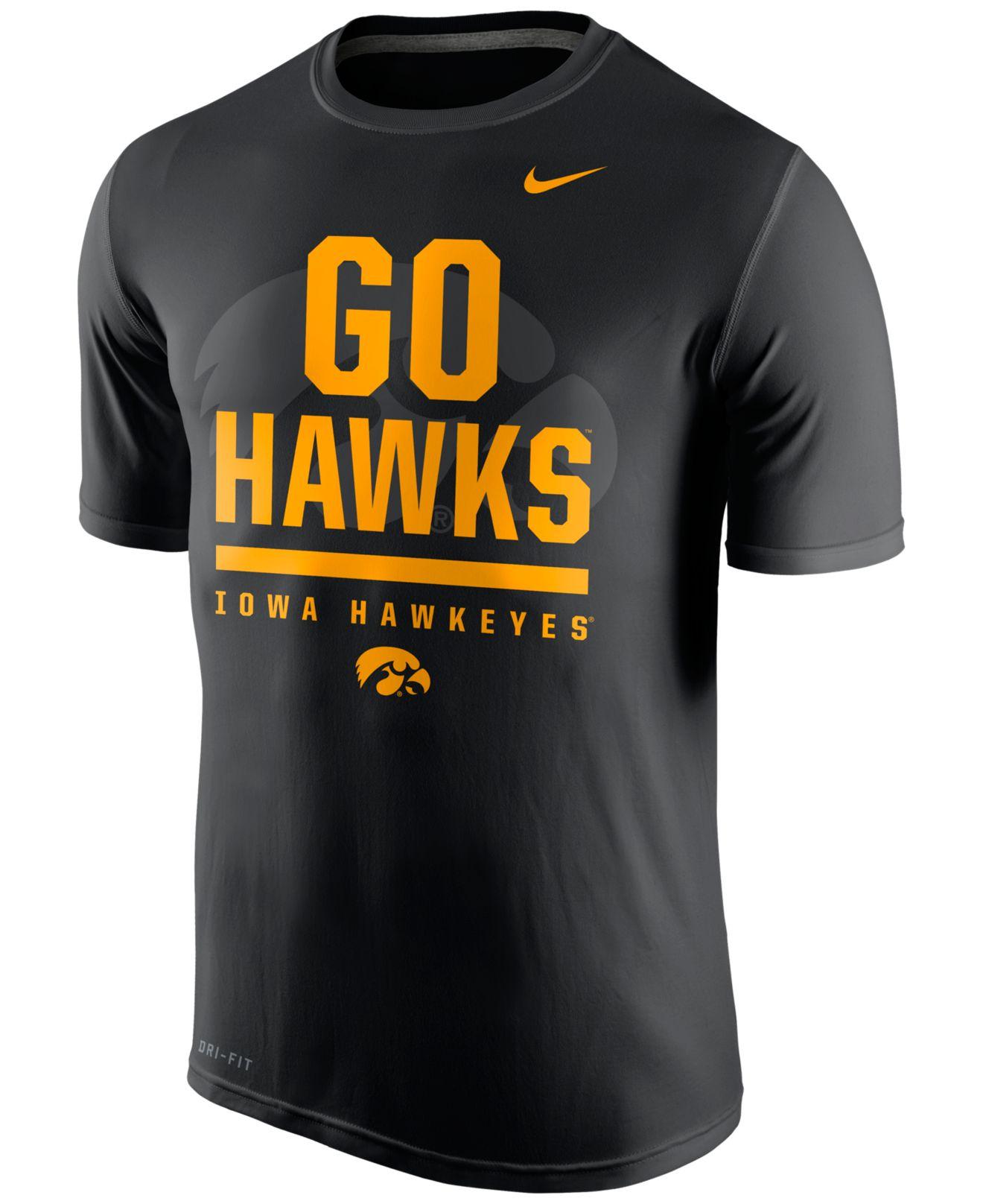 Nike men 39 s iowa hawkeyes verbiage t shirt in black for men for Iowa hawkeye t shirt