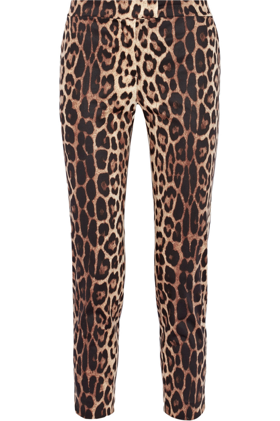 Charlotte On The Cheap >> Lyst - Boutique Moschino Cropped Leopard-Print Stretch-Cotton Pants in Brown