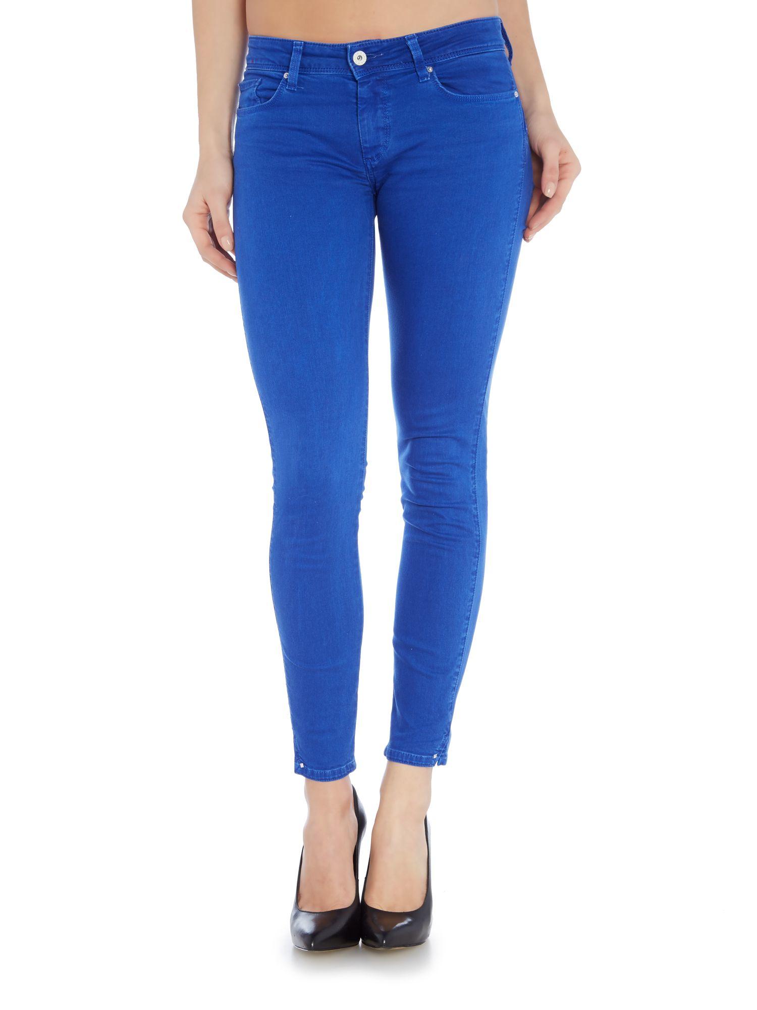 salsa wonder push up mid rise capri jeans in blue lyst. Black Bedroom Furniture Sets. Home Design Ideas
