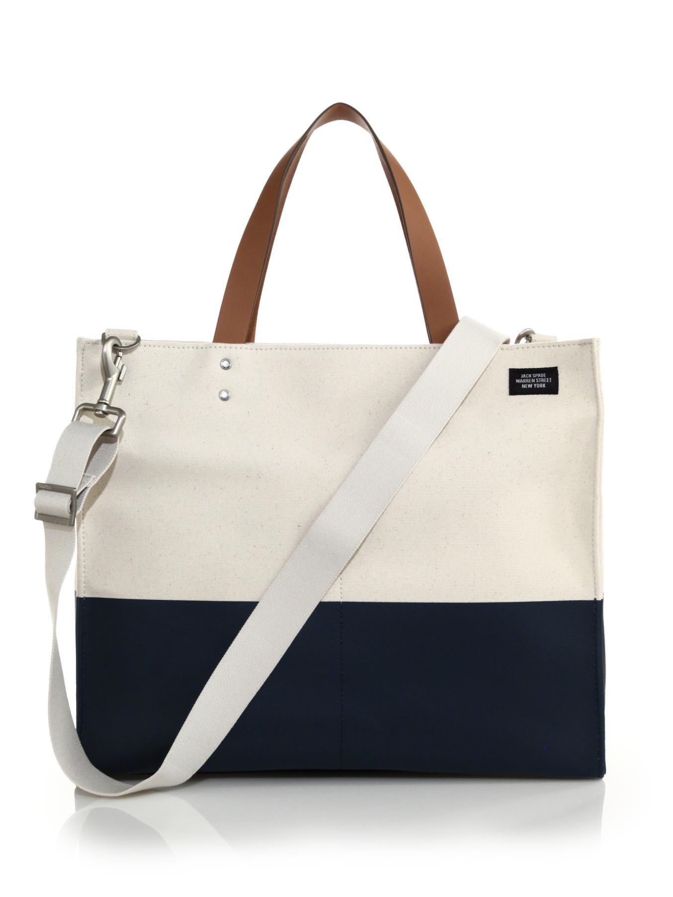 01825364d Jack Spade Dipped Square Tote Bag in Natural for Men - Lyst