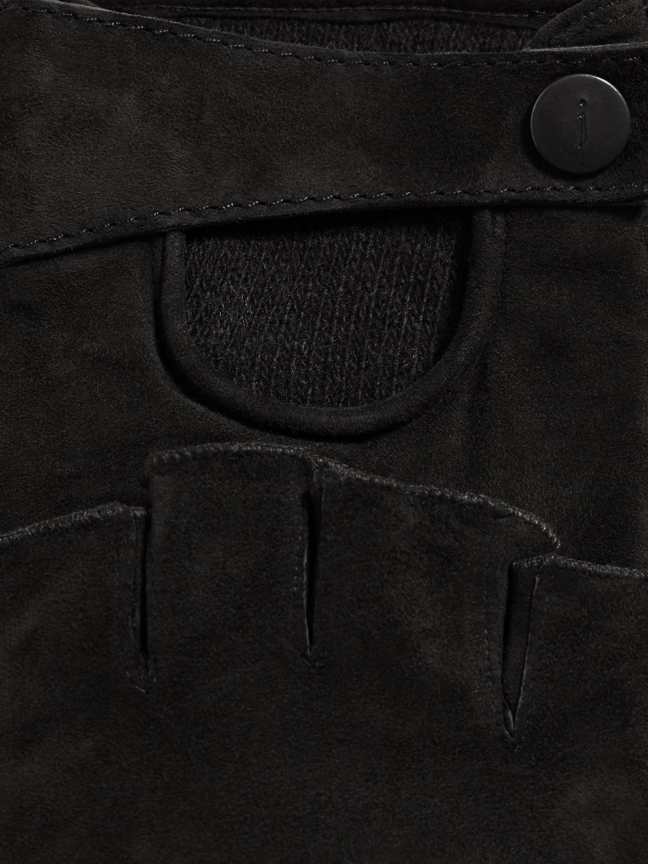 John varvatos leather driving gloves - John Varvatos Black Fingerless Suede Driving Glove For Men Lyst View Fullscreen