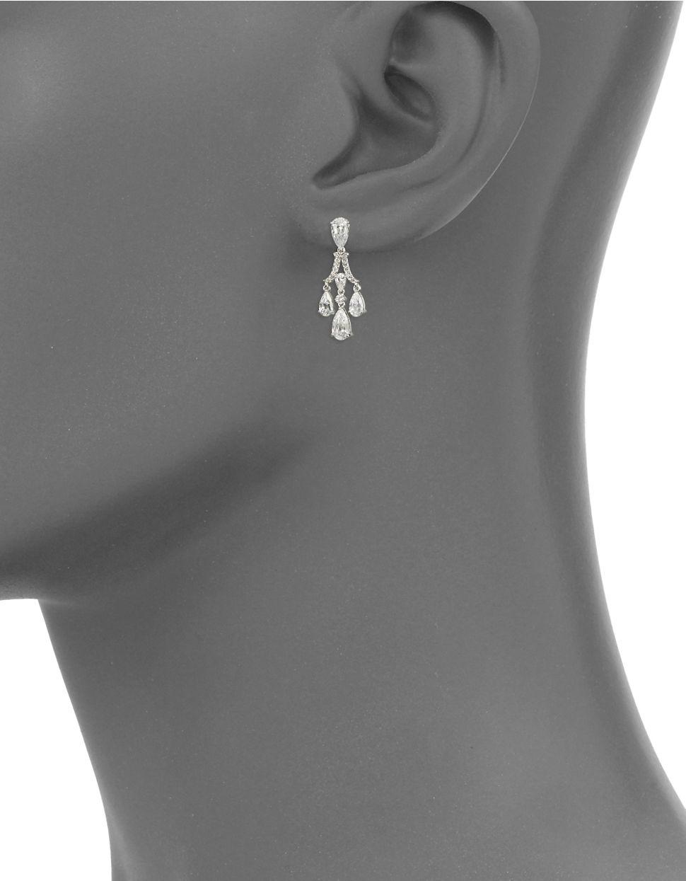 Lyst nadri small chandelier earrings in metallic gallery aloadofball Gallery