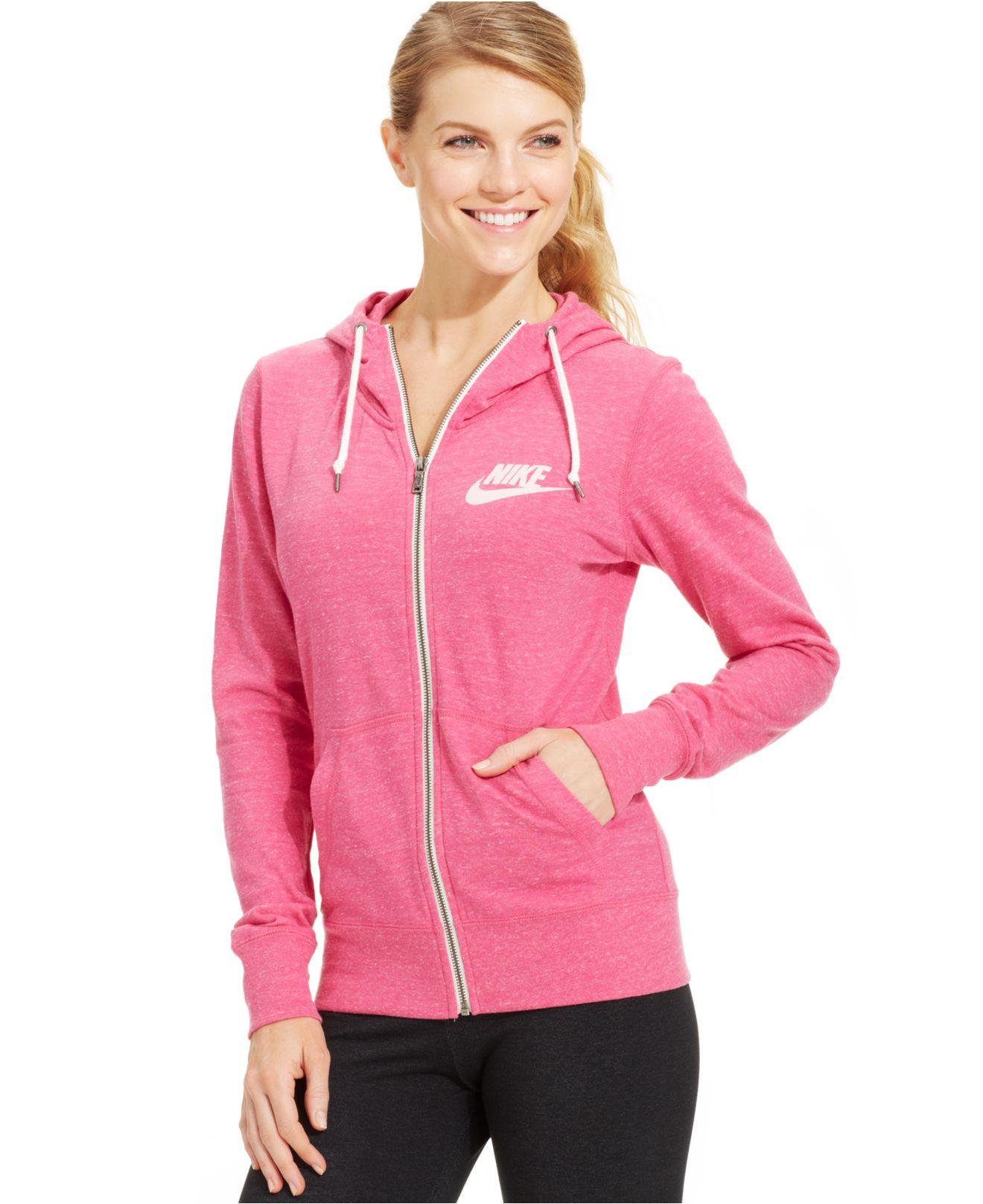 159172671432 Lyst - Nike Long-Sleeve Gym Vintage Hoodie in Pink