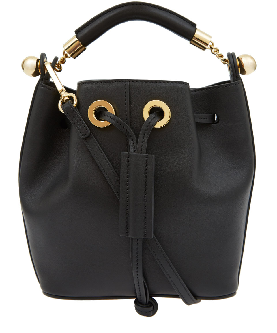 chloe it bag - Chlo�� Black Gala Smooth Calfskin Bucket Bag in Black | Lyst