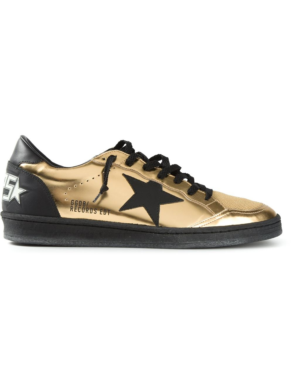 golden goose deluxe brand 39 ball star 39 sneakers in gold for men metallic lyst. Black Bedroom Furniture Sets. Home Design Ideas