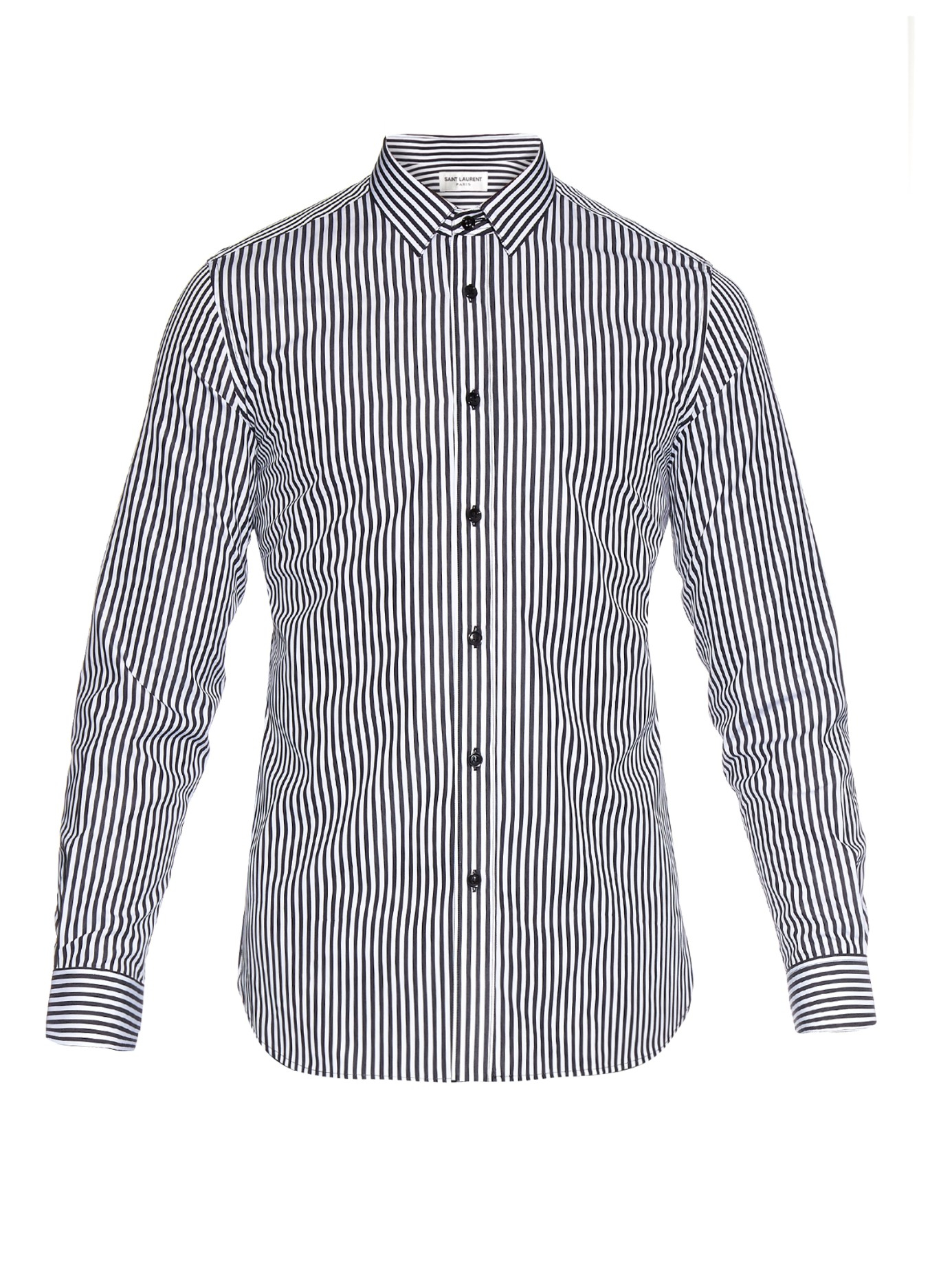 Cheap Sale Real Black striped shirt Saint Laurent Explore Online KmoSRrZOs