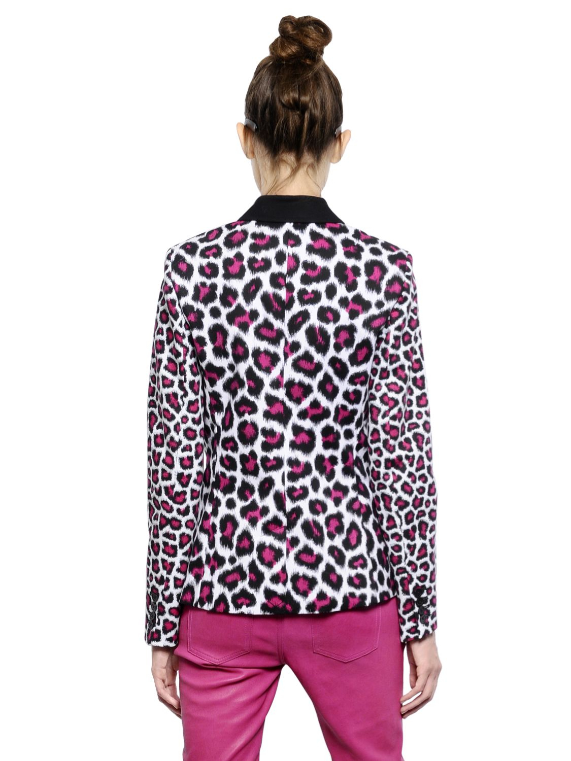 Michael Michael Kors Leopard Printed Cotton Drill Jacket