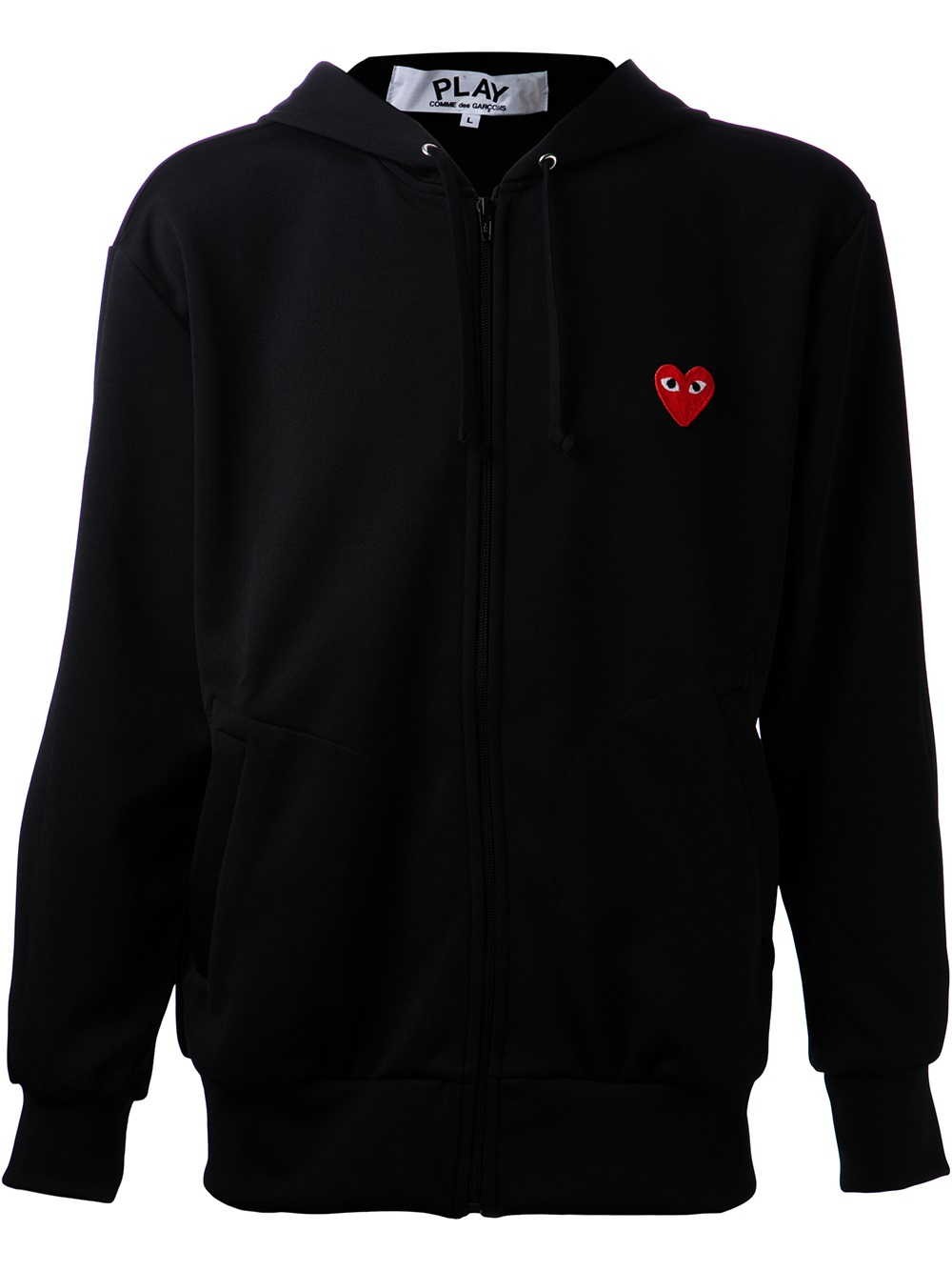 play comme des gar ons embroidered heart sweatshirt in. Black Bedroom Furniture Sets. Home Design Ideas