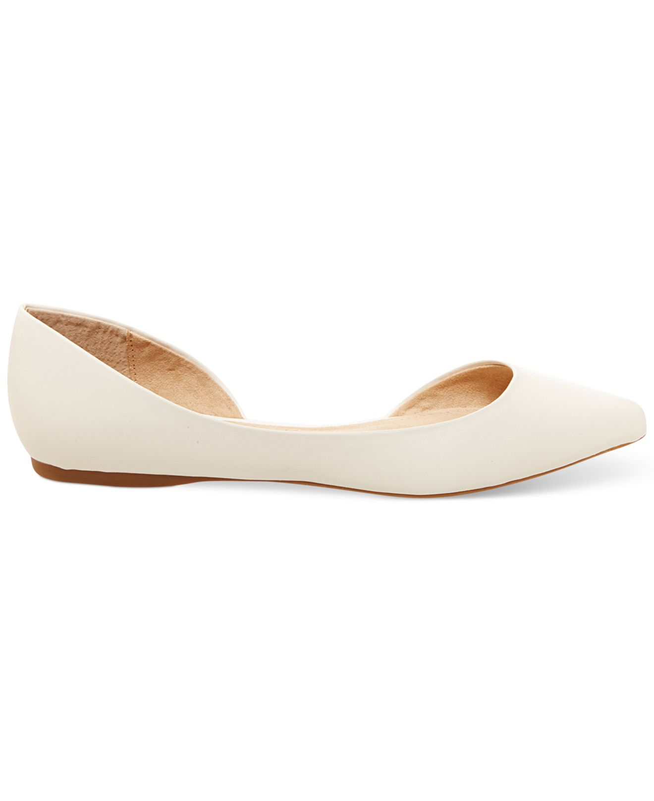 1c1bc970edf Steve Madden White Women'S Elusion D'Orsay Flats