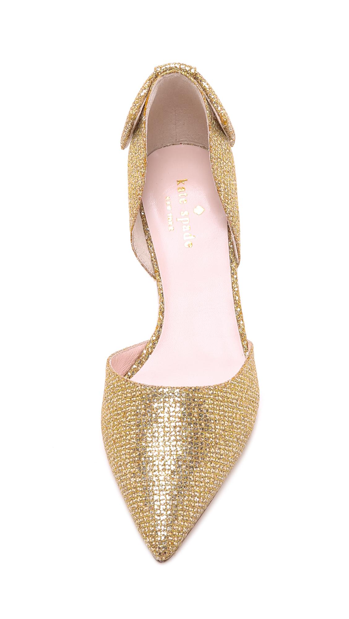 Kate spade new york Myra D'orsay Pumps - Gold in Metallic | Lyst